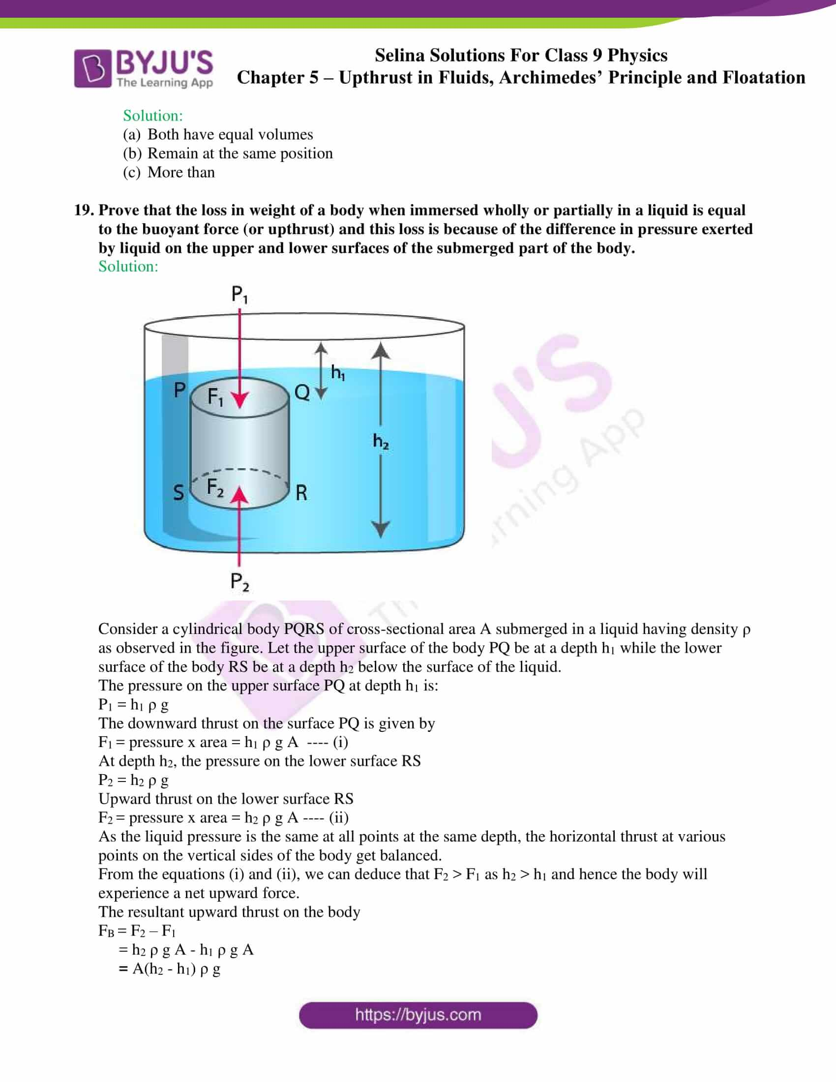 selina solutions class 9 physics chapter 5 part 05