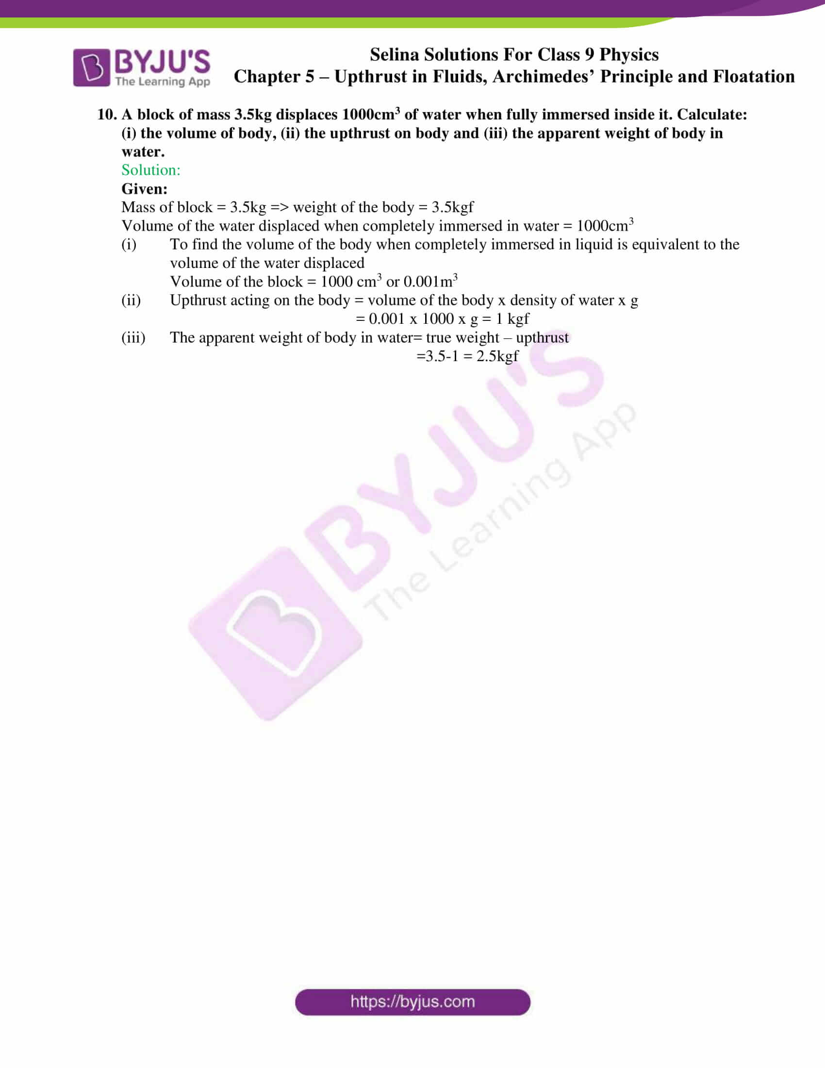 selina solutions class 9 physics chapter 5 part 13
