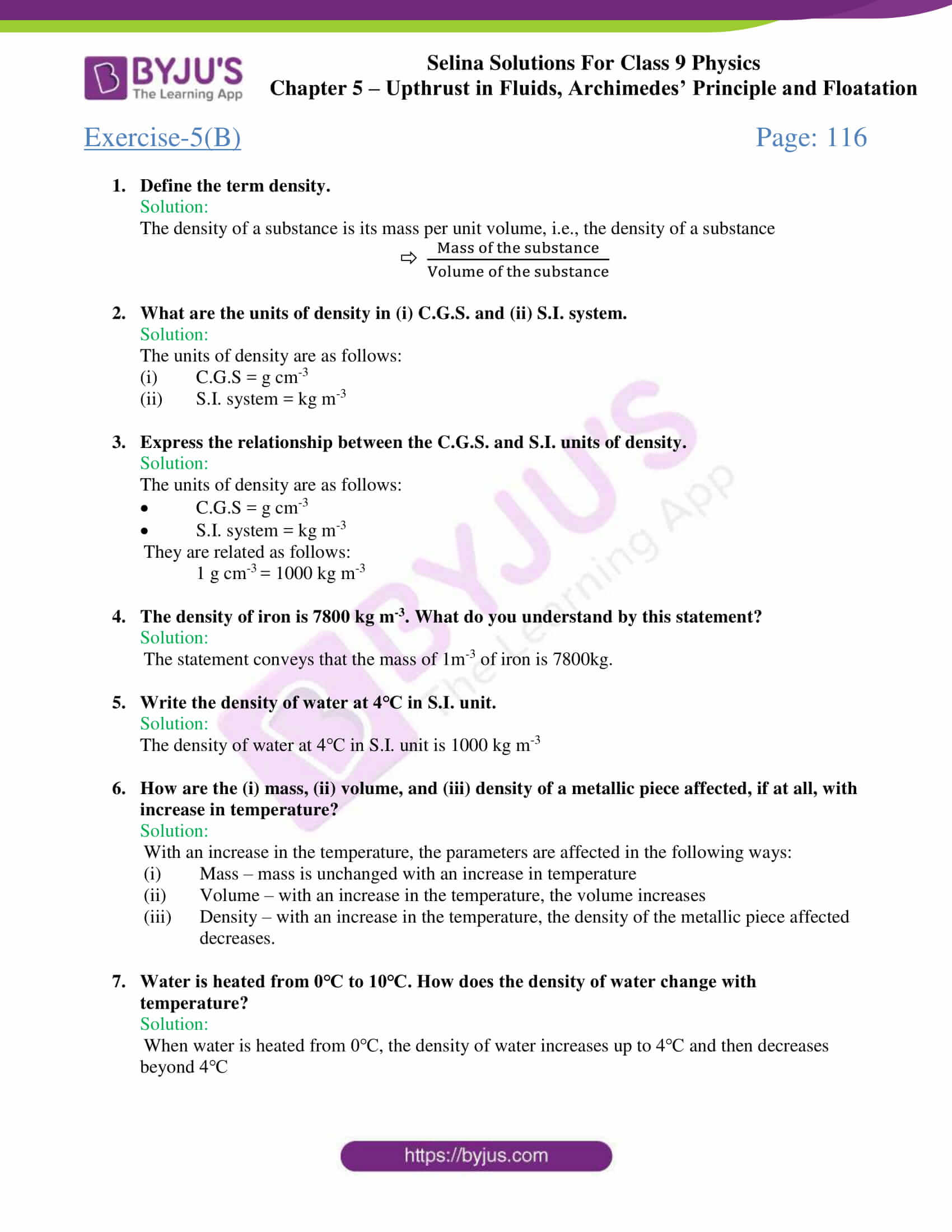 selina solutions class 9 physics chapter 5 part 14