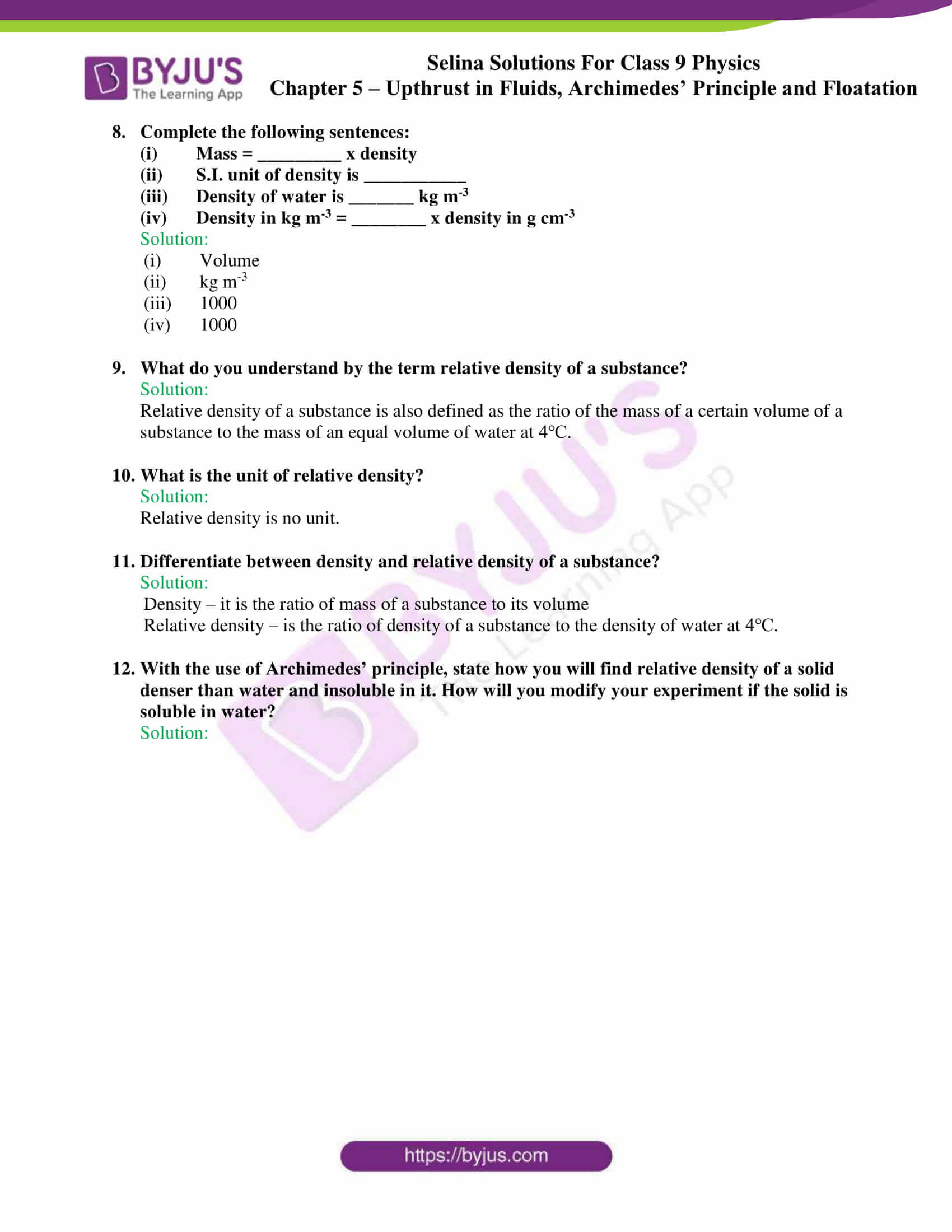 selina solutions class 9 physics chapter 5 part 15