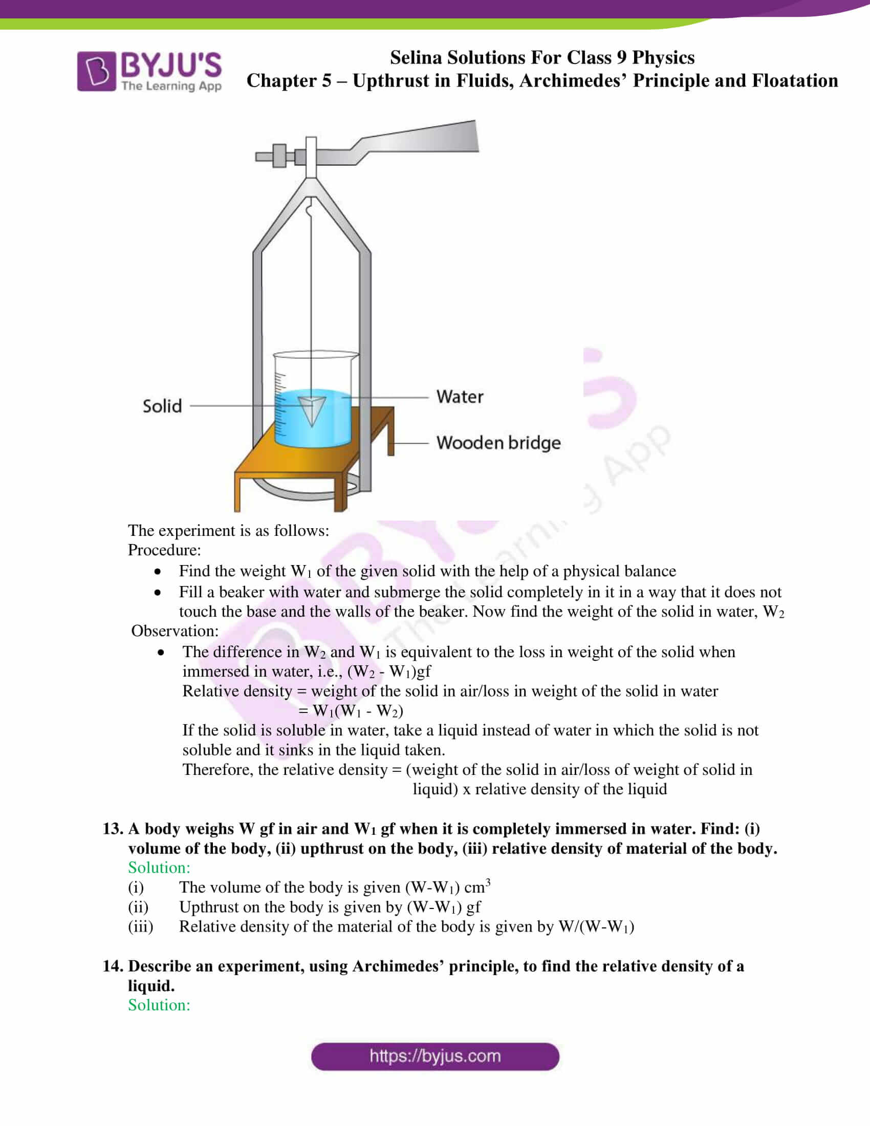 selina solutions class 9 physics chapter 5 part 16