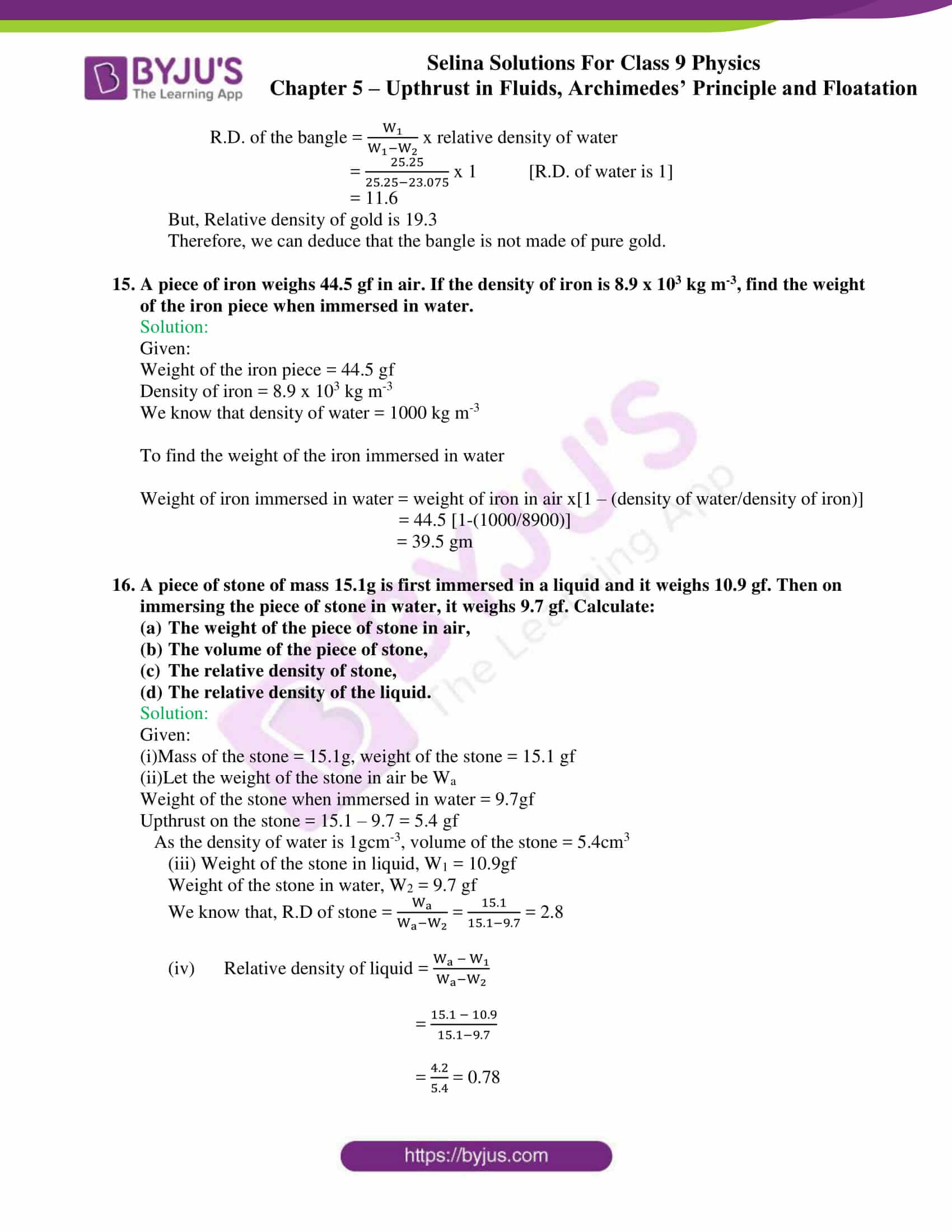 selina solutions class 9 physics chapter 5 part 22