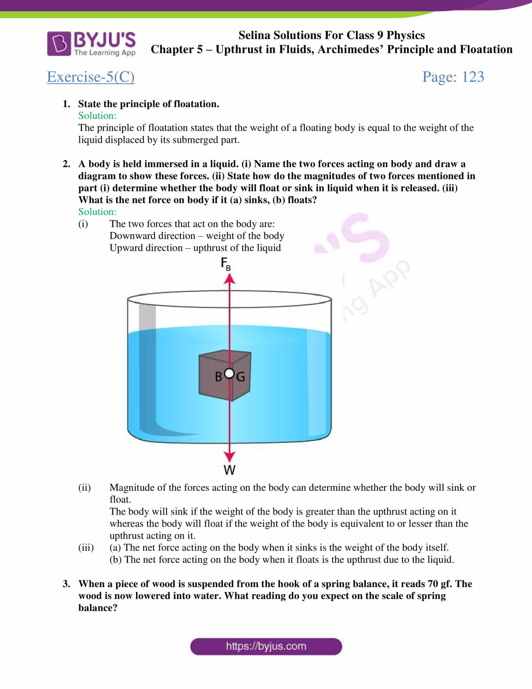 selina solutions class 9 physics chapter 5 part 23