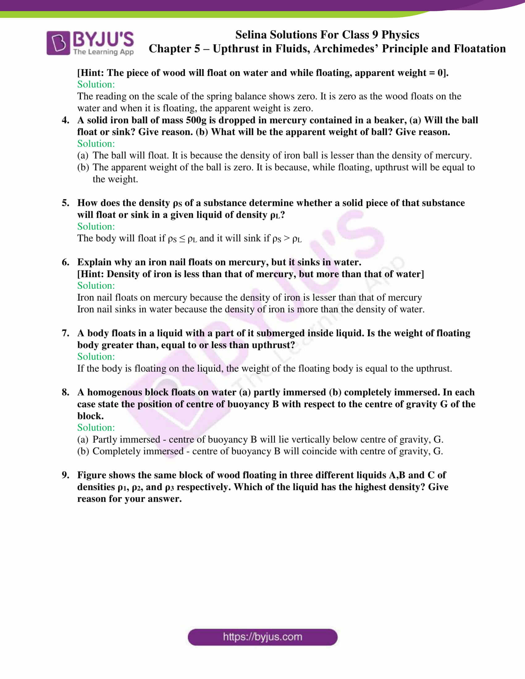 selina solutions class 9 physics chapter 5 part 24