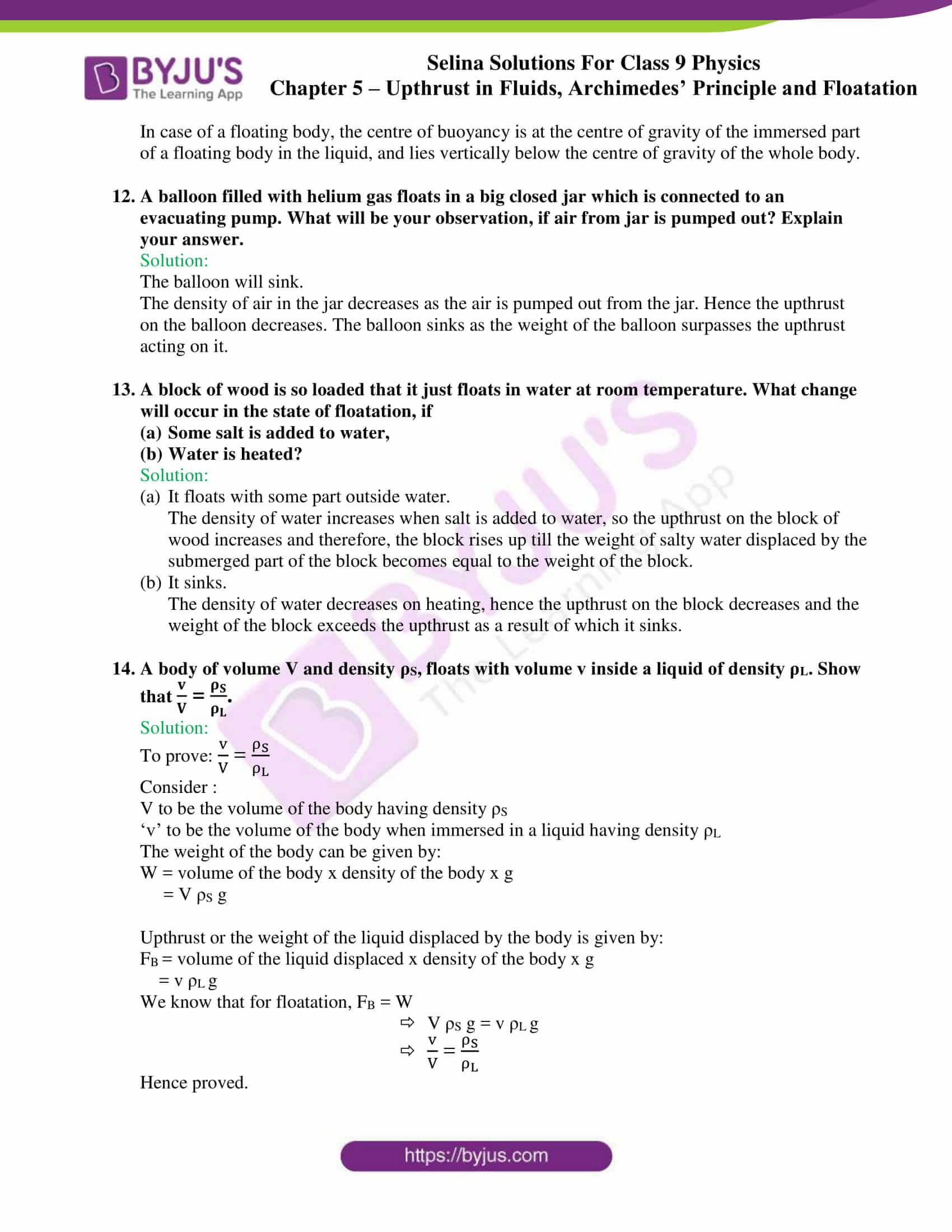 selina solutions class 9 physics chapter 5 part 26