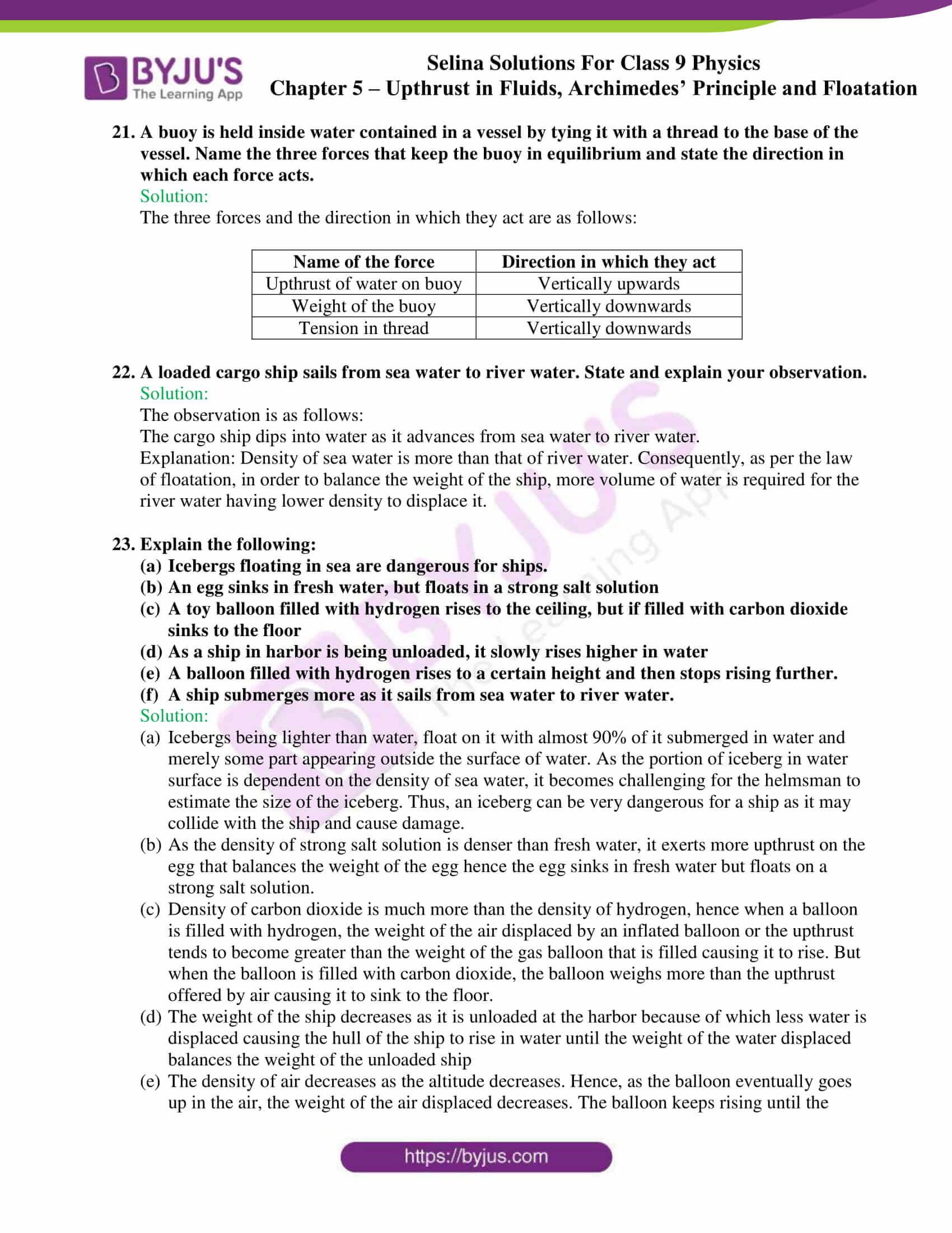 selina solutions class 9 physics chapter 5 part 28