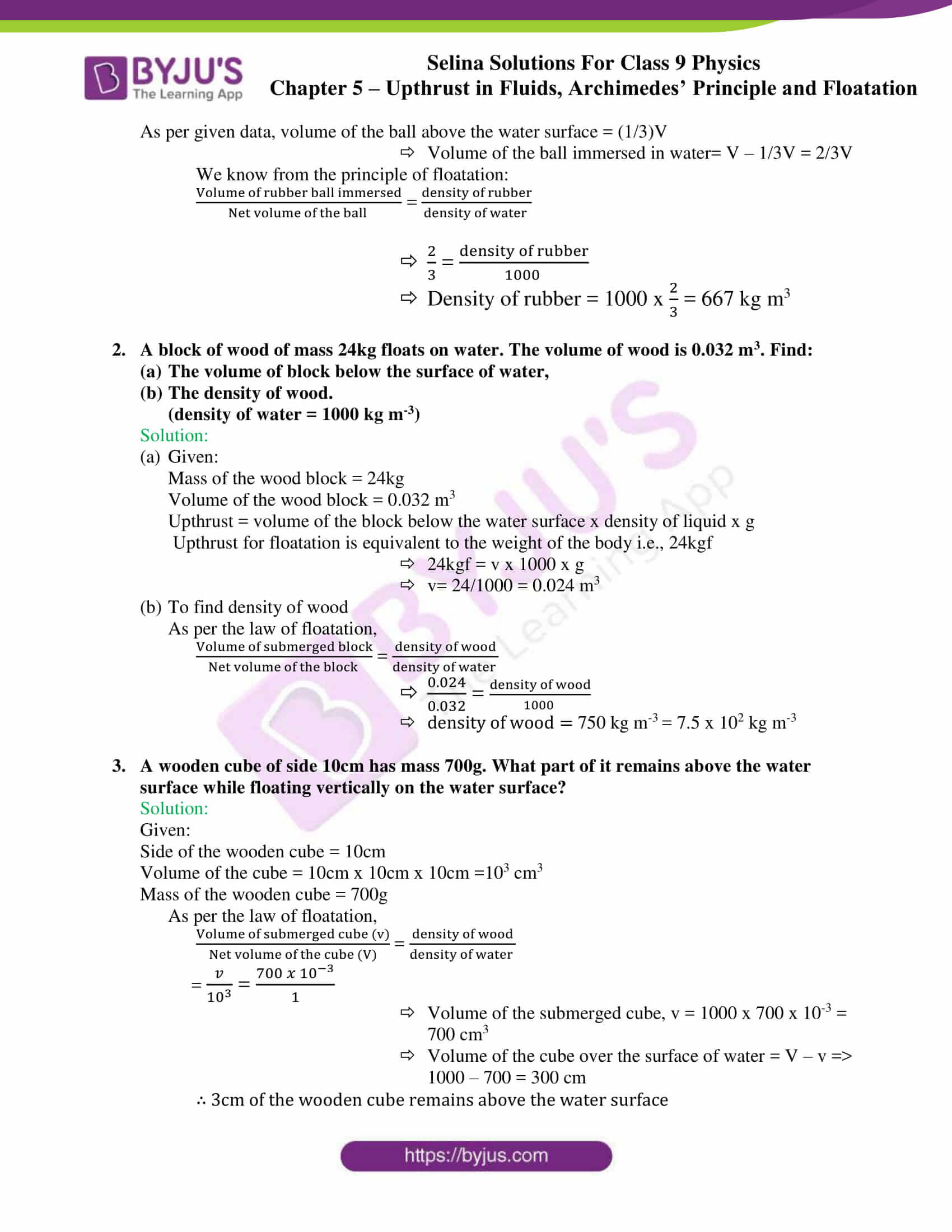 selina solutions class 9 physics chapter 5 part 30