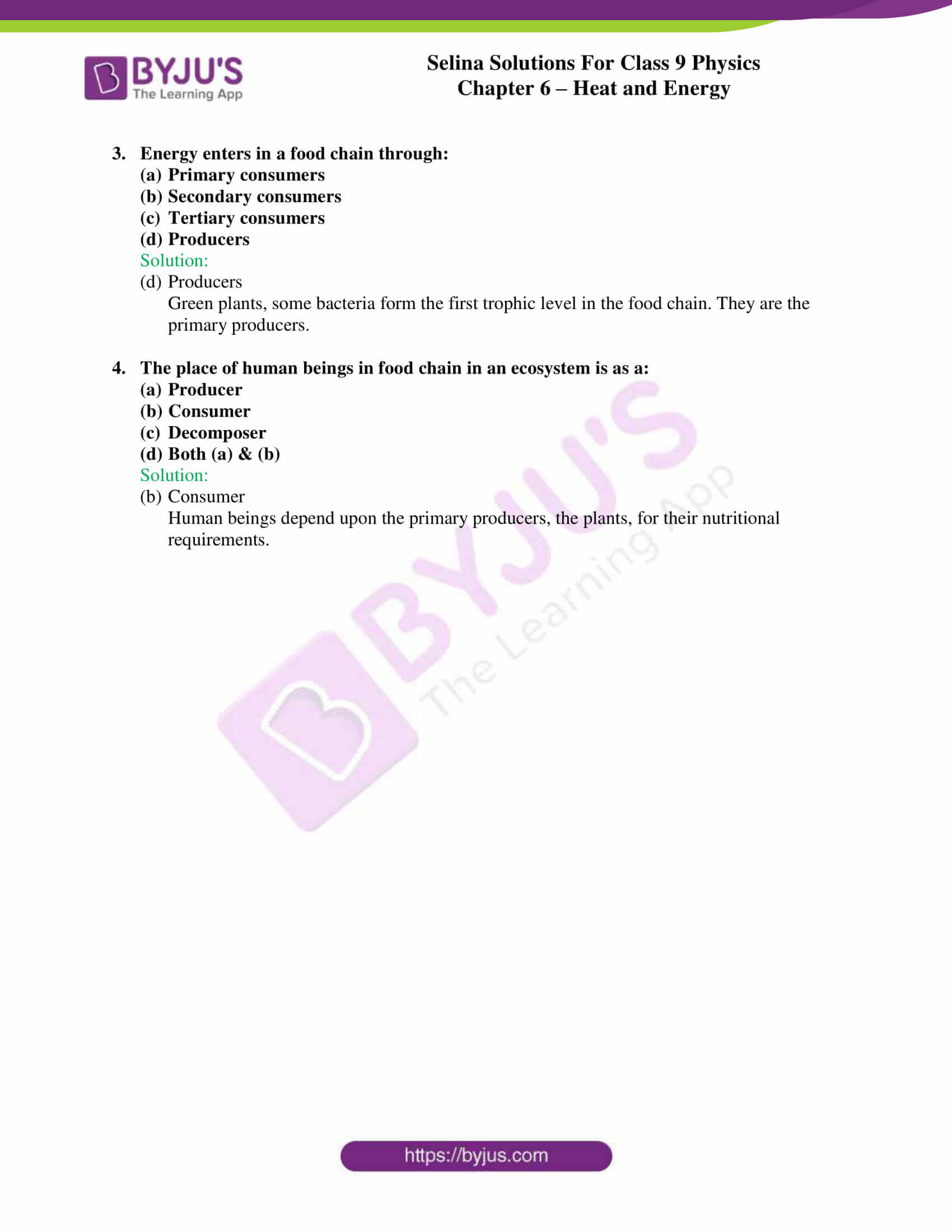selina solutions class 9 physics chapter 6 Heat and Energy part 13