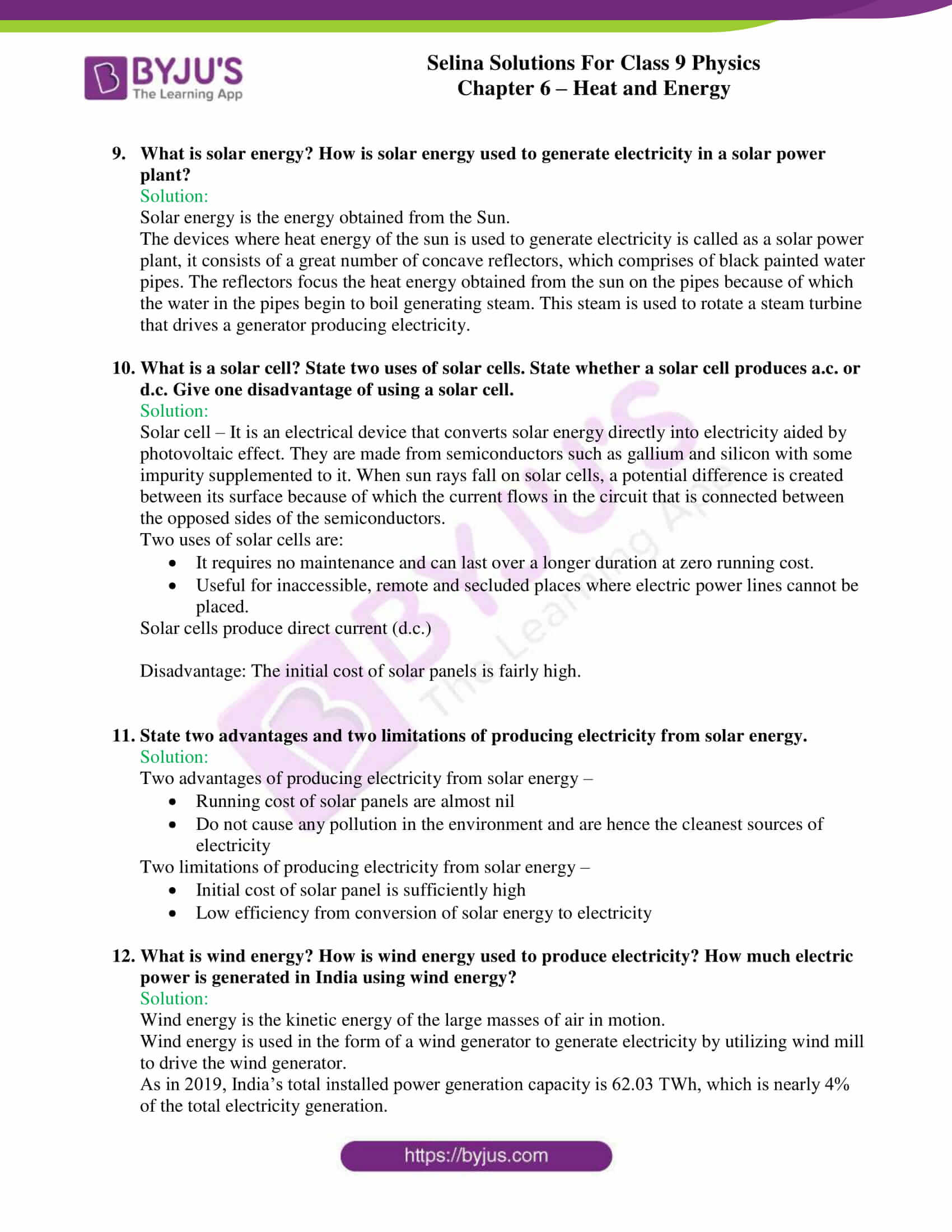 selina solutions class 9 physics chapter 6 Heat and Energy part 16