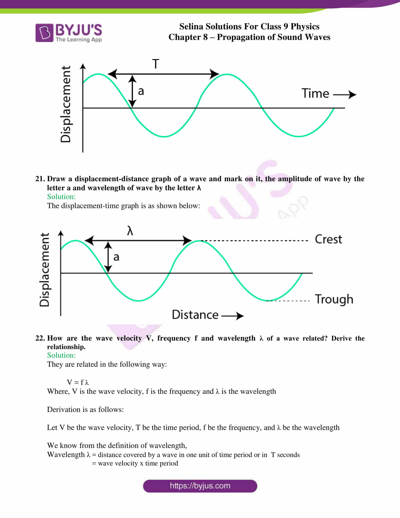 selina solutions class 9 physics chapter 8 Propagation of Sound Waves part 07