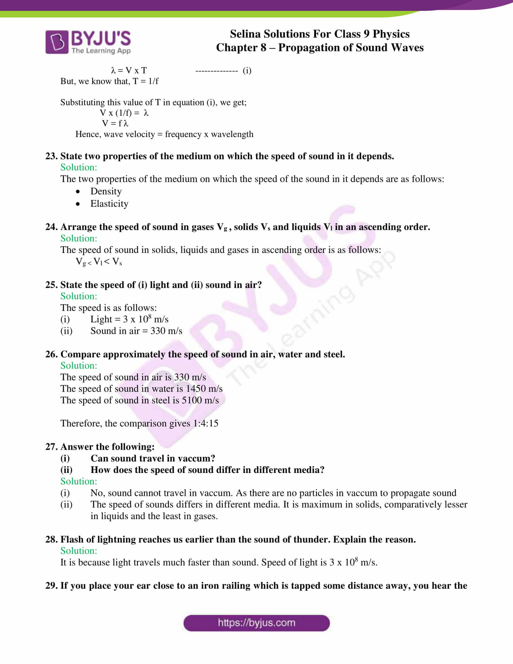 selina solutions class 9 physics chapter 8 Propagation of Sound Waves part 08
