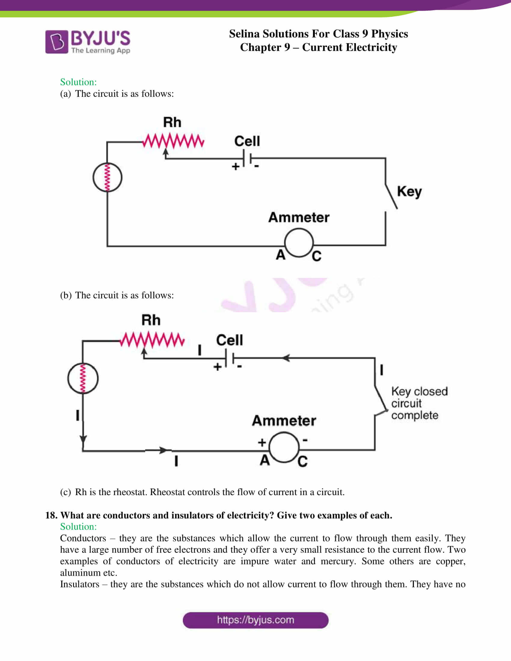 selina solutions class 9 physics chapter 9 Current Electricity part 05