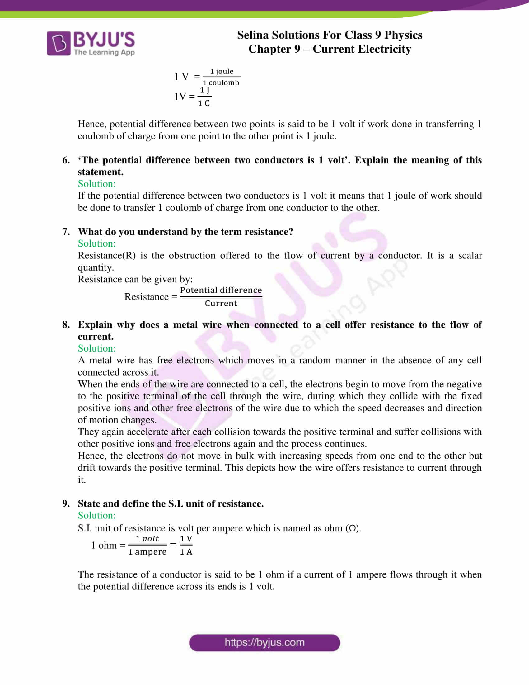 selina solutions class 9 physics chapter 9 Current Electricity part 10