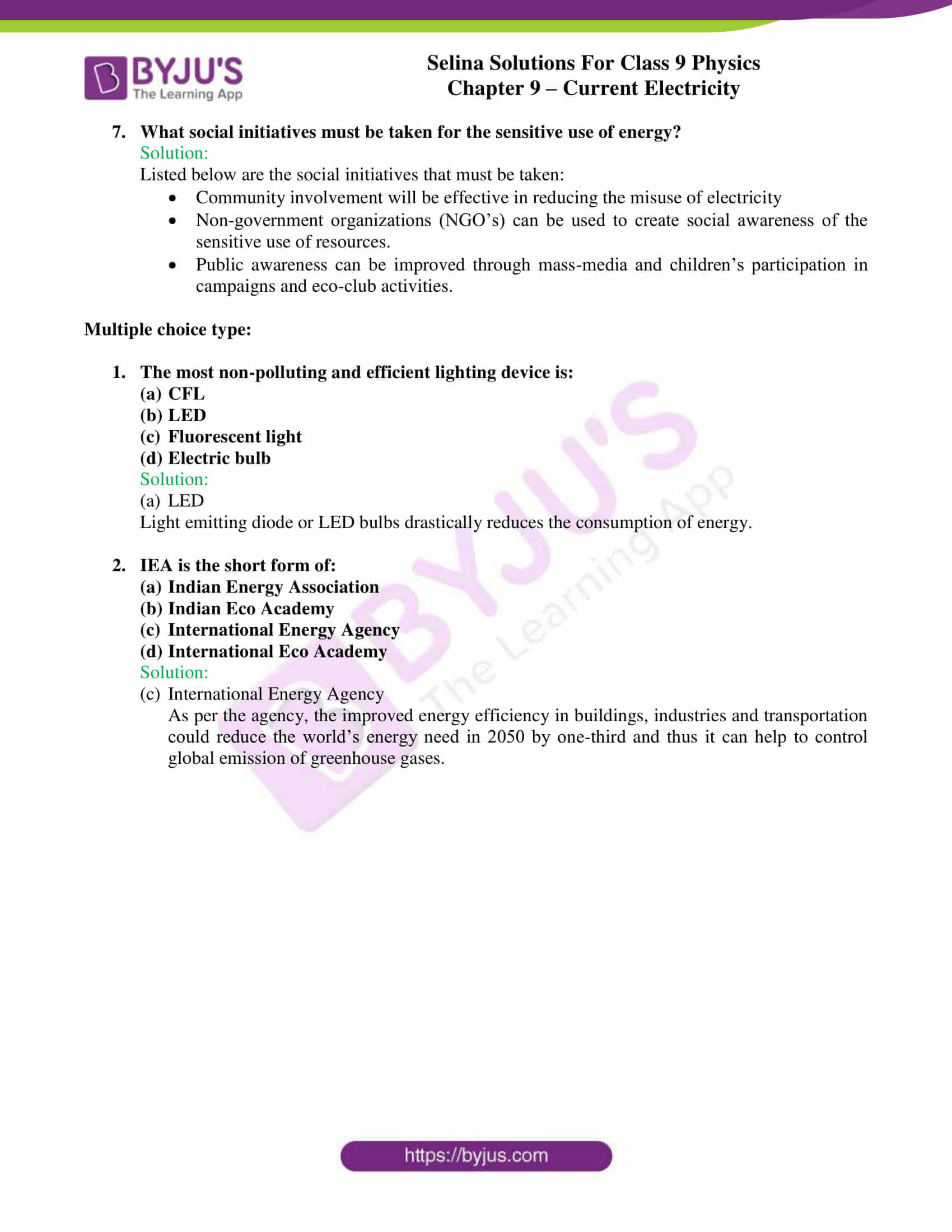 selina solutions class 9 physics chapter 9 Current Electricity part 15