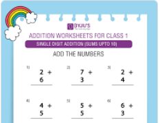 Single digit addition Worksheet(Sums upto 10)-4