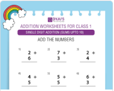 Maths Worksheets For Class 1 - Free PDF Download
