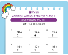 Single digit addition worksheet(Sums upto 20)-5