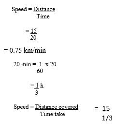 speed calculation