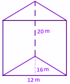 volume of a prism example