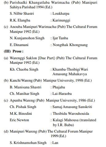 UPSC Manipuri Literature Books- Manipuri Literature Optional Books 5