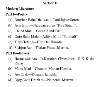 UPSC Santhali Literature Booklist- Santhali Literature Optional 2
