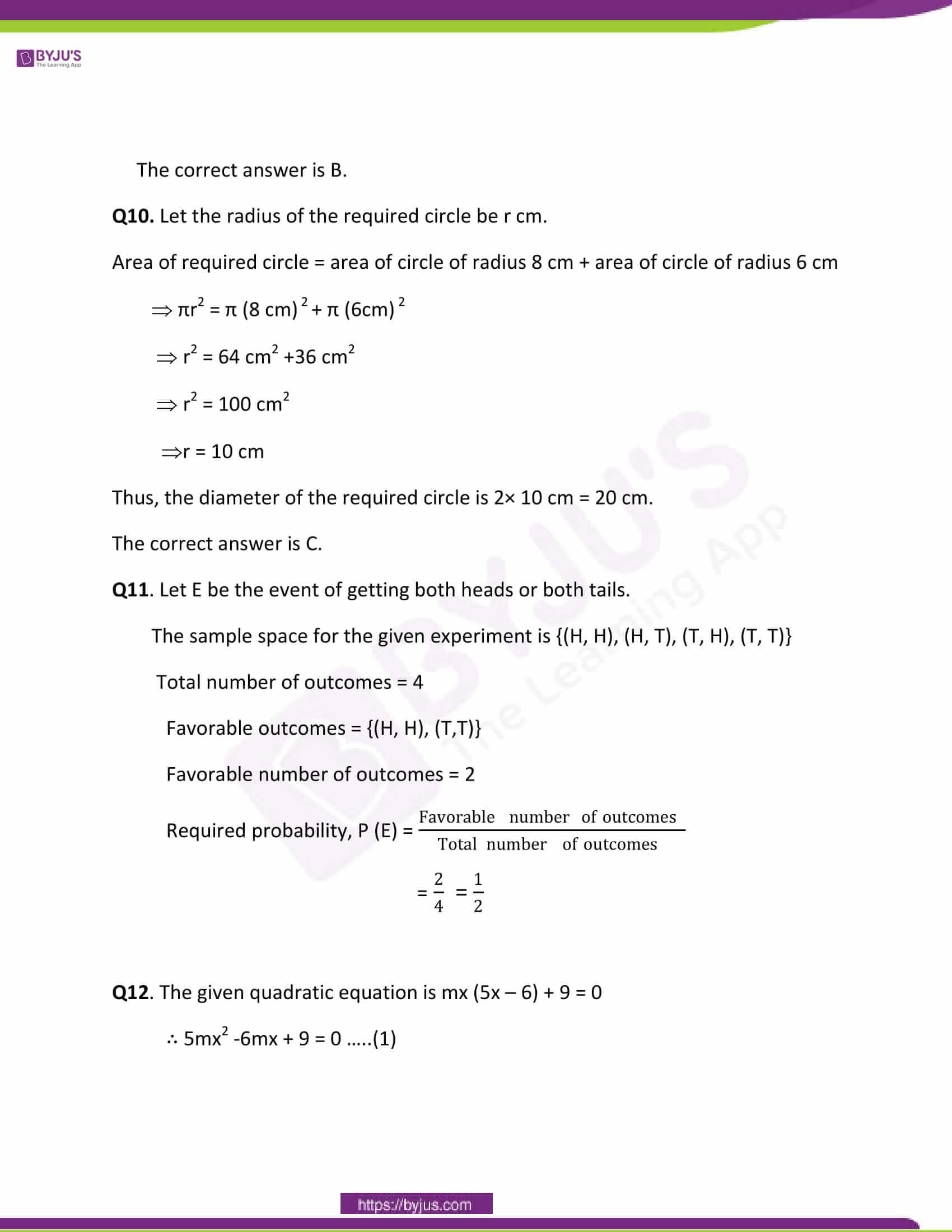CBSE Class 10 Maths Papers Solution 2011 06