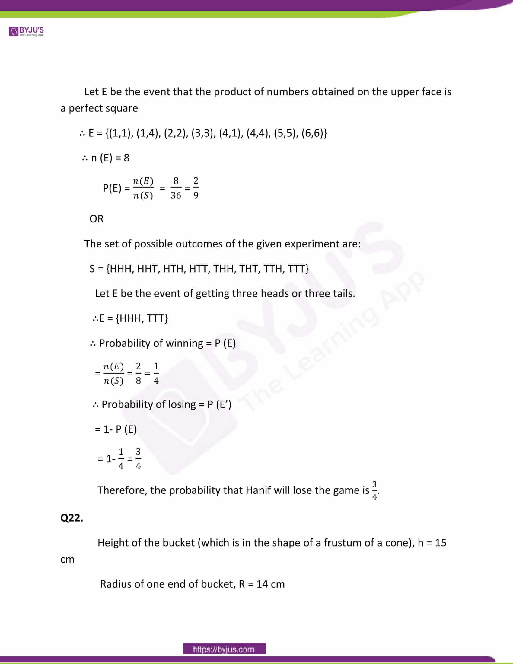 CBSE Class 10 Maths Papers Solution 2011 15