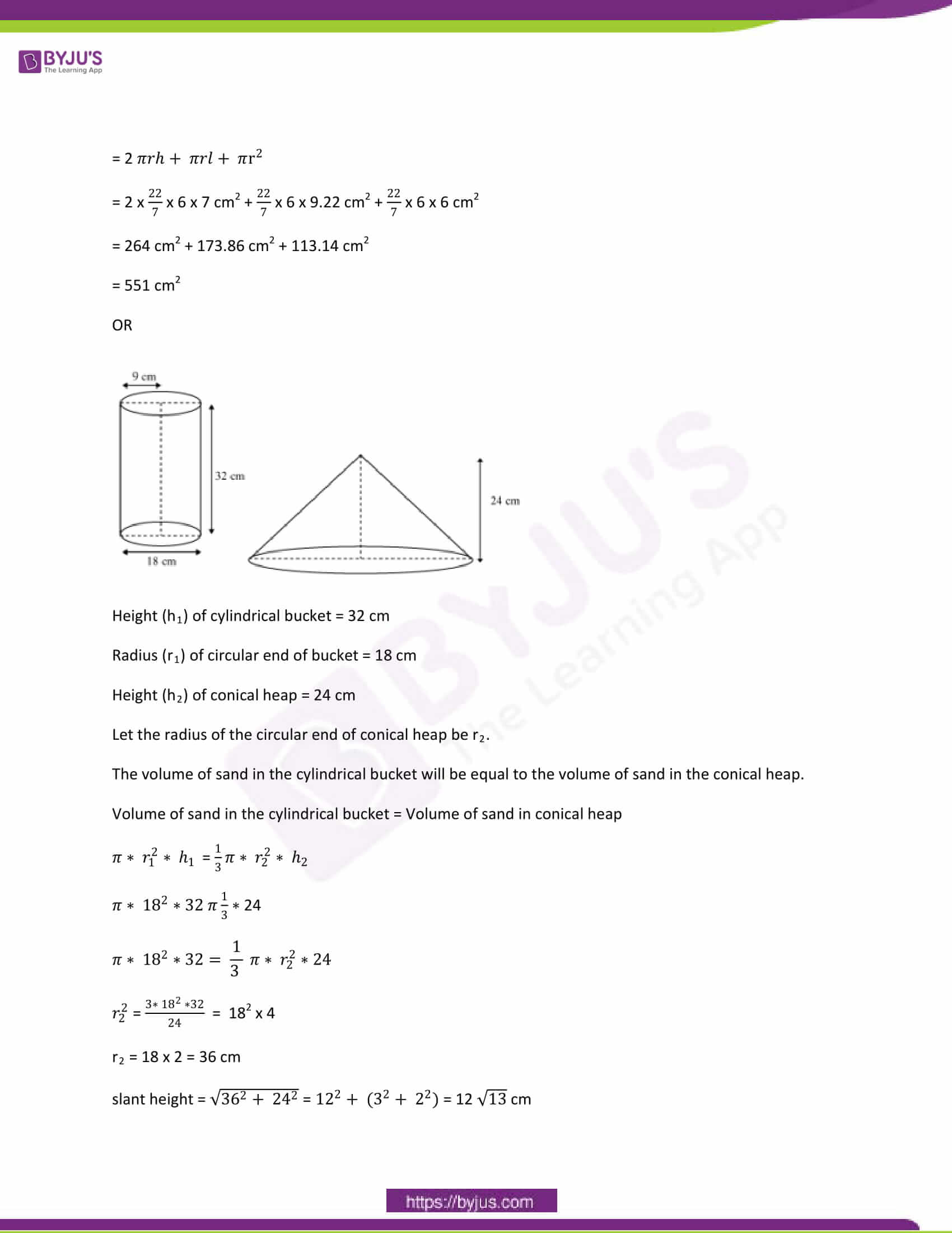 CBSE Class 10 Maths Papers Solution 2012 18