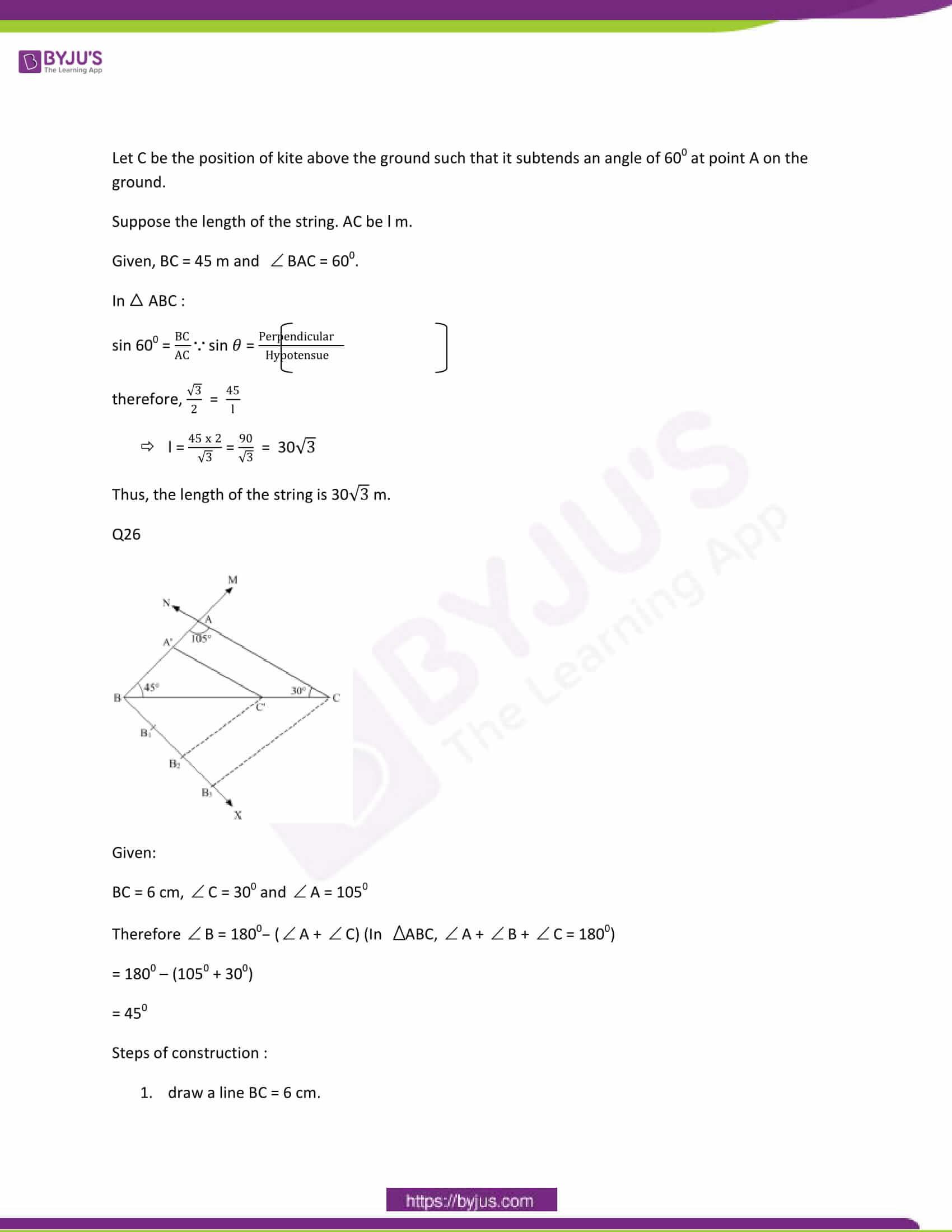 CBSE Class 10 Maths Papers Solution 2012 21