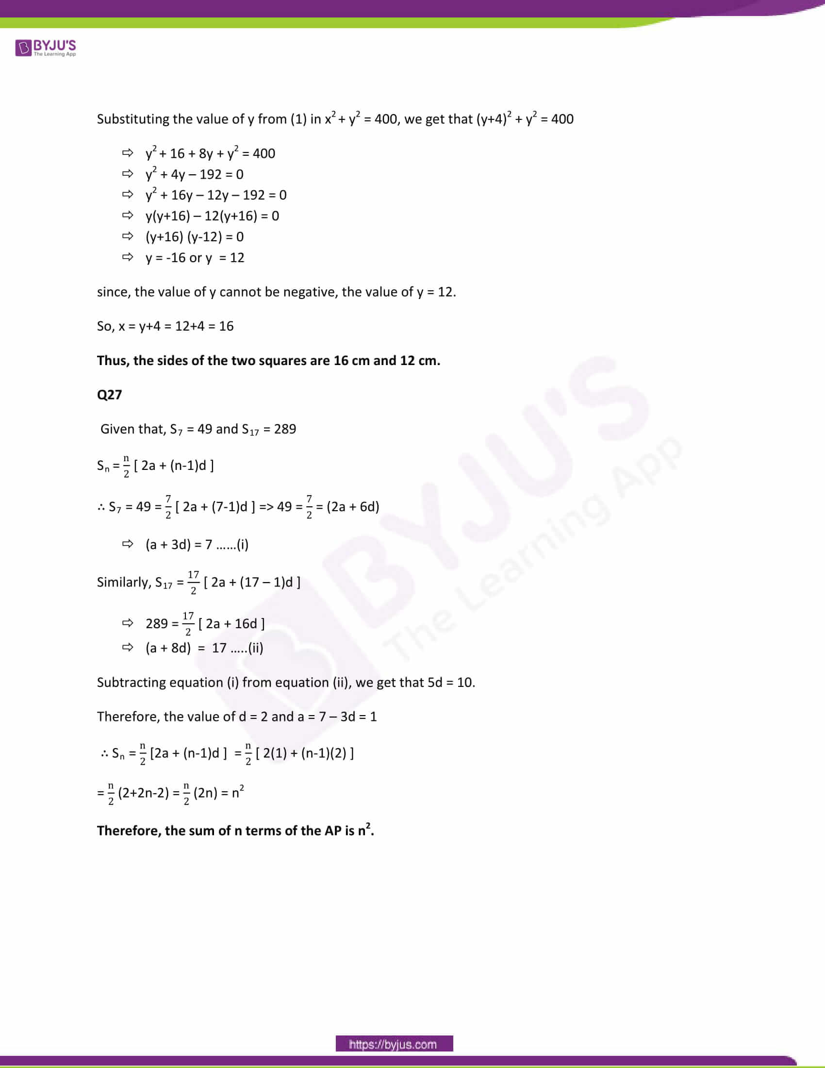 CBSE Class 10 Maths Papers Solution 2013 15