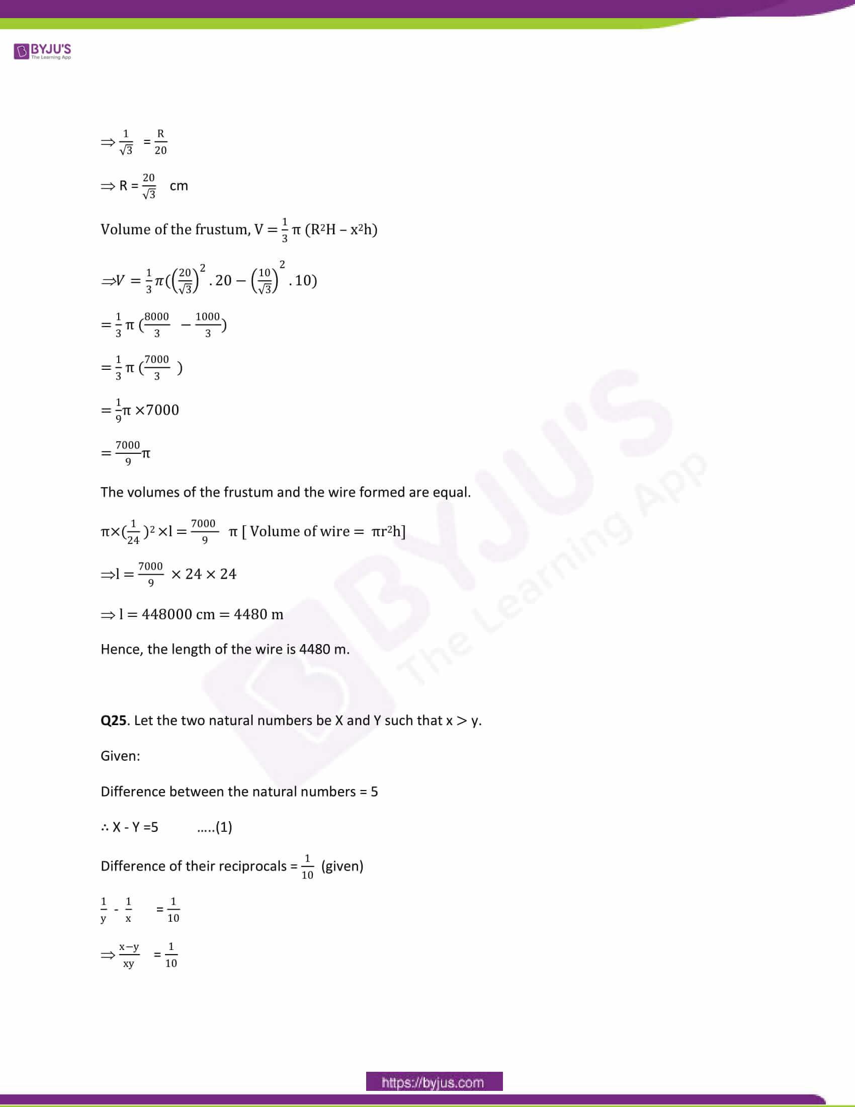 CBSE Class 10 Maths Papers Solution 2014 17