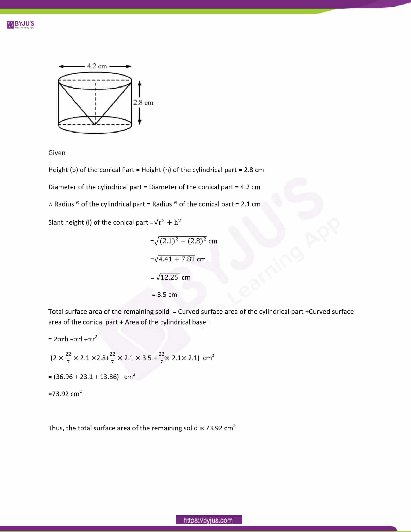 CBSE Class 10 Maths Papers Solution 2014 25