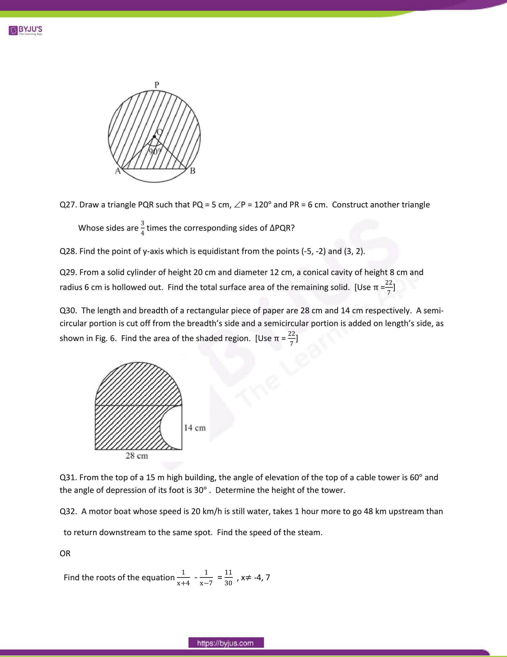 CBSE Class 10 Maths Question Papers 2011 6
