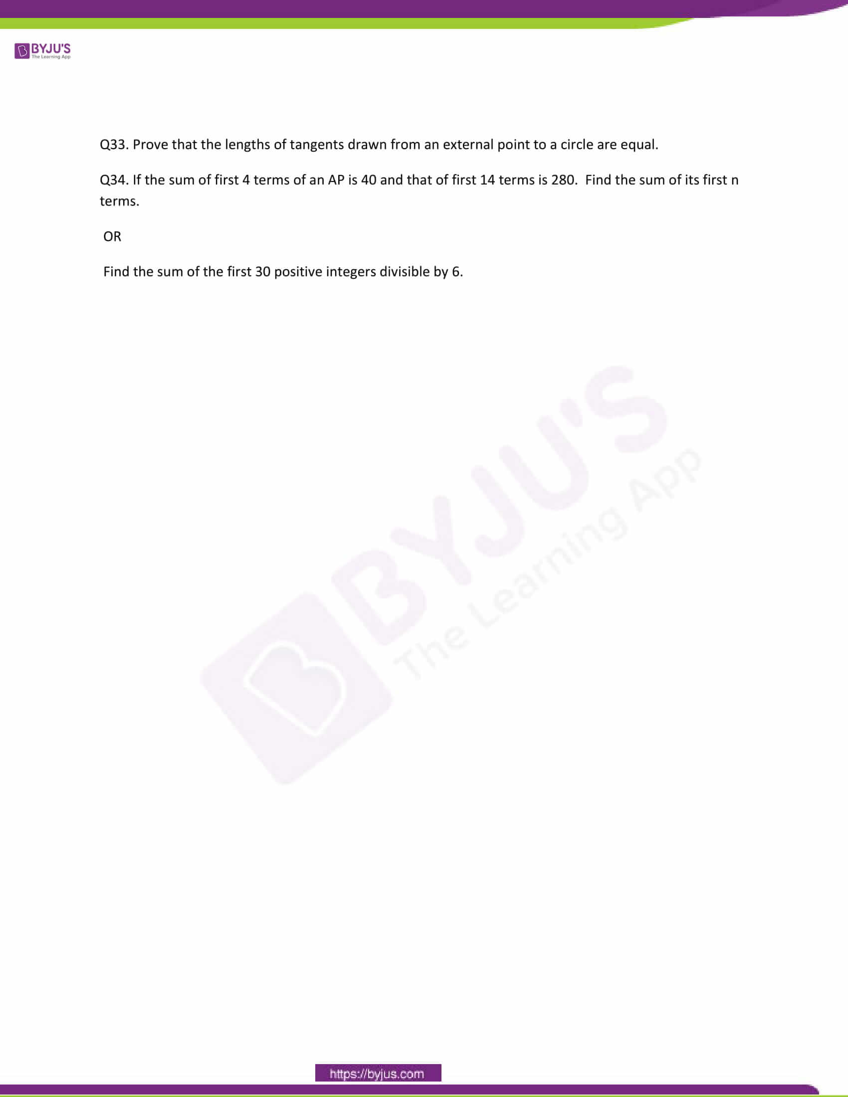 CBSE Class 10 Maths Question Papers 2011 7