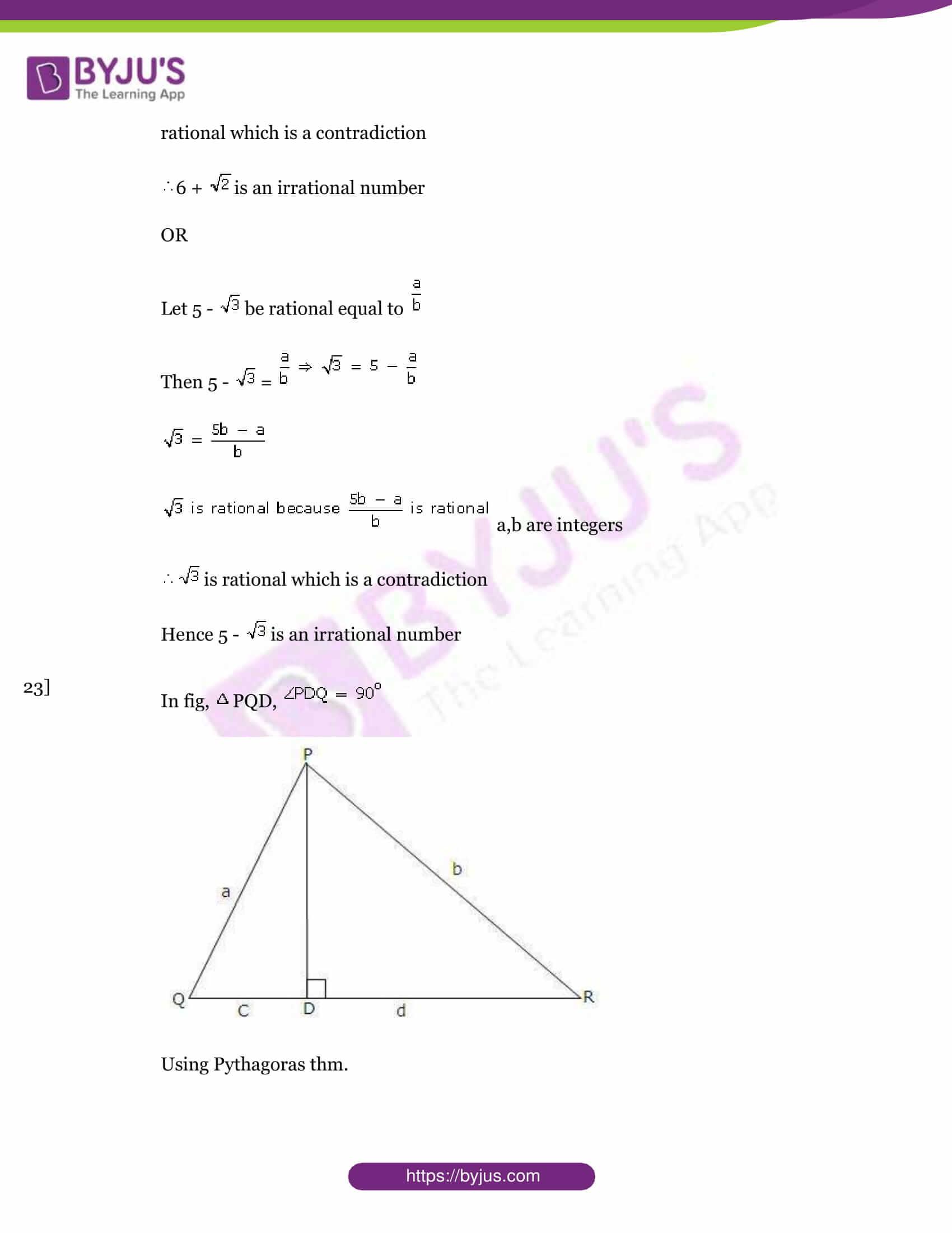 Cbse class 10 maths sample paper set 6