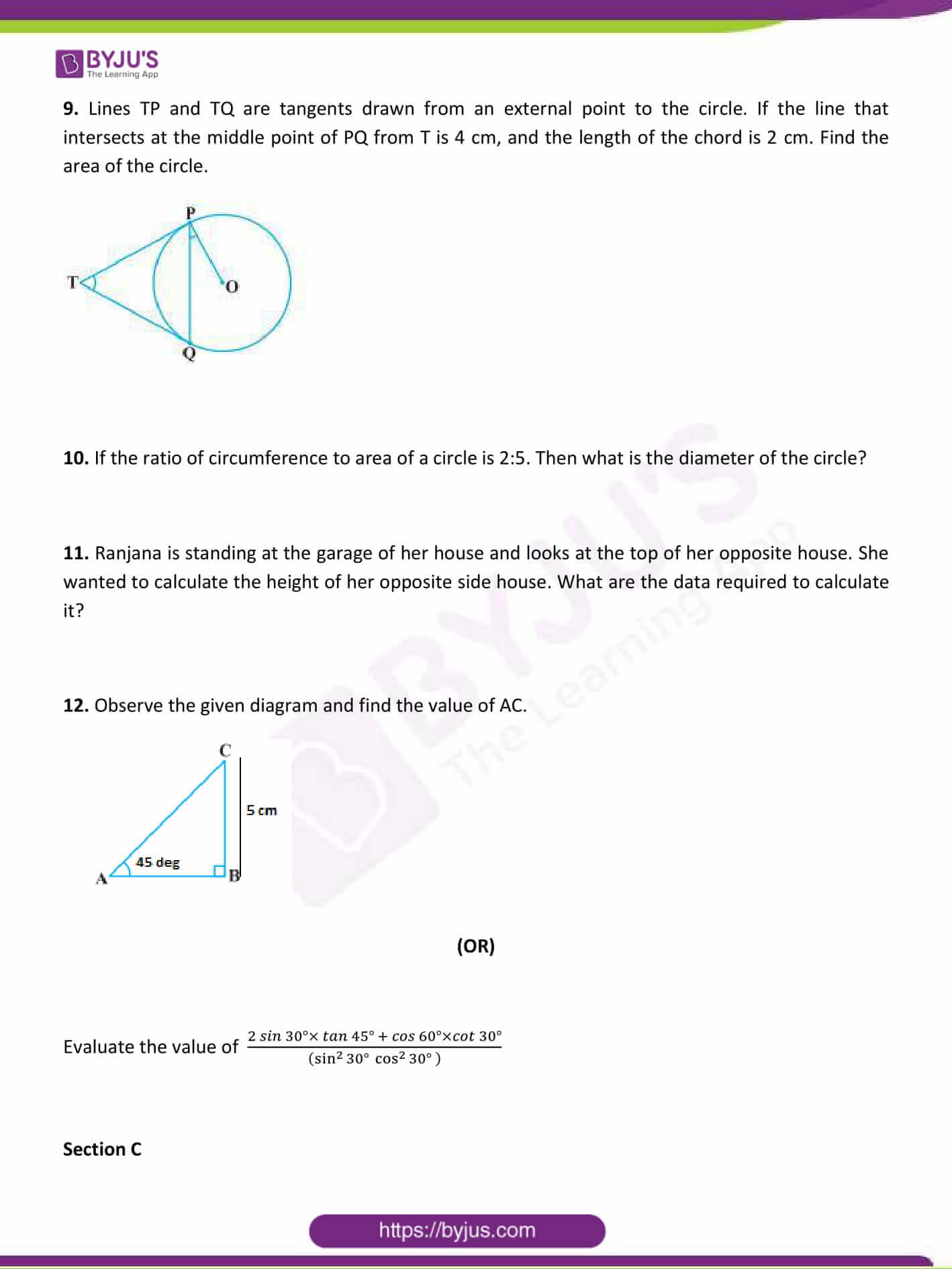 CBSE Class 10 Maths Sample Paper Set 1-3