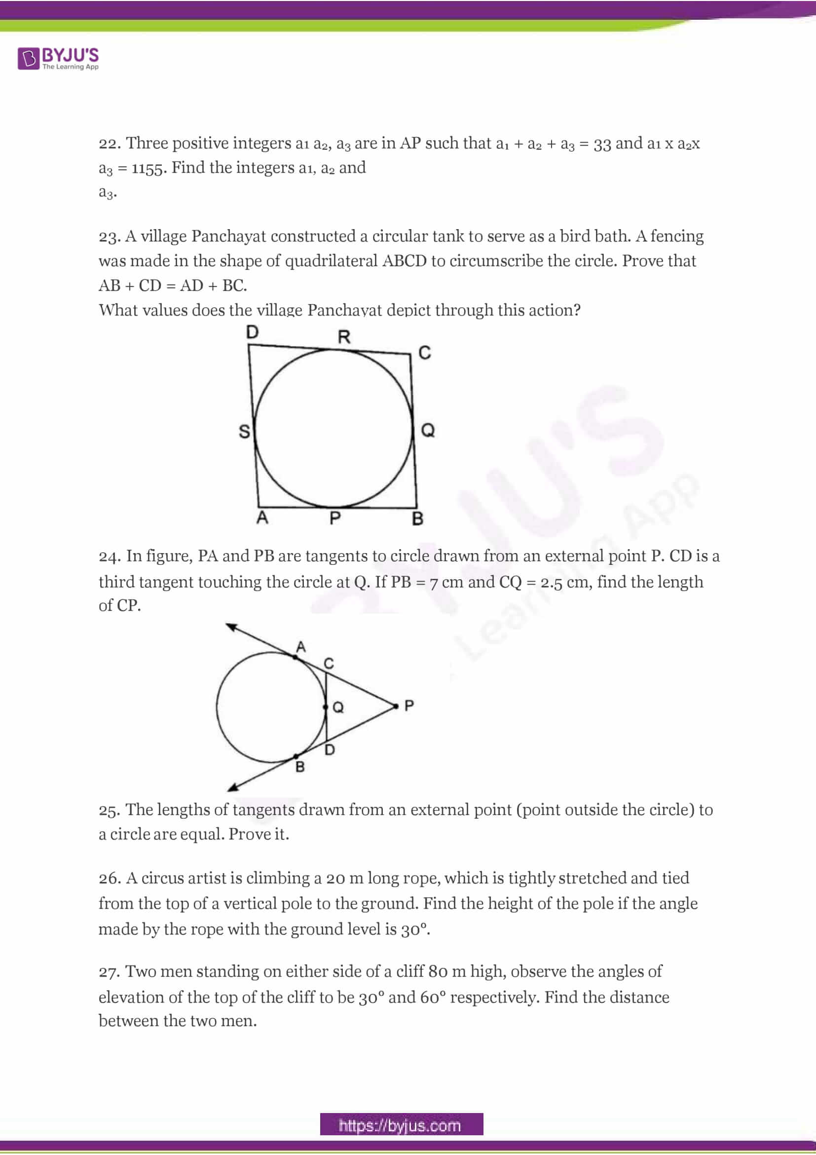 CBSE Class 10 Maths Sample Paper Set 3-4