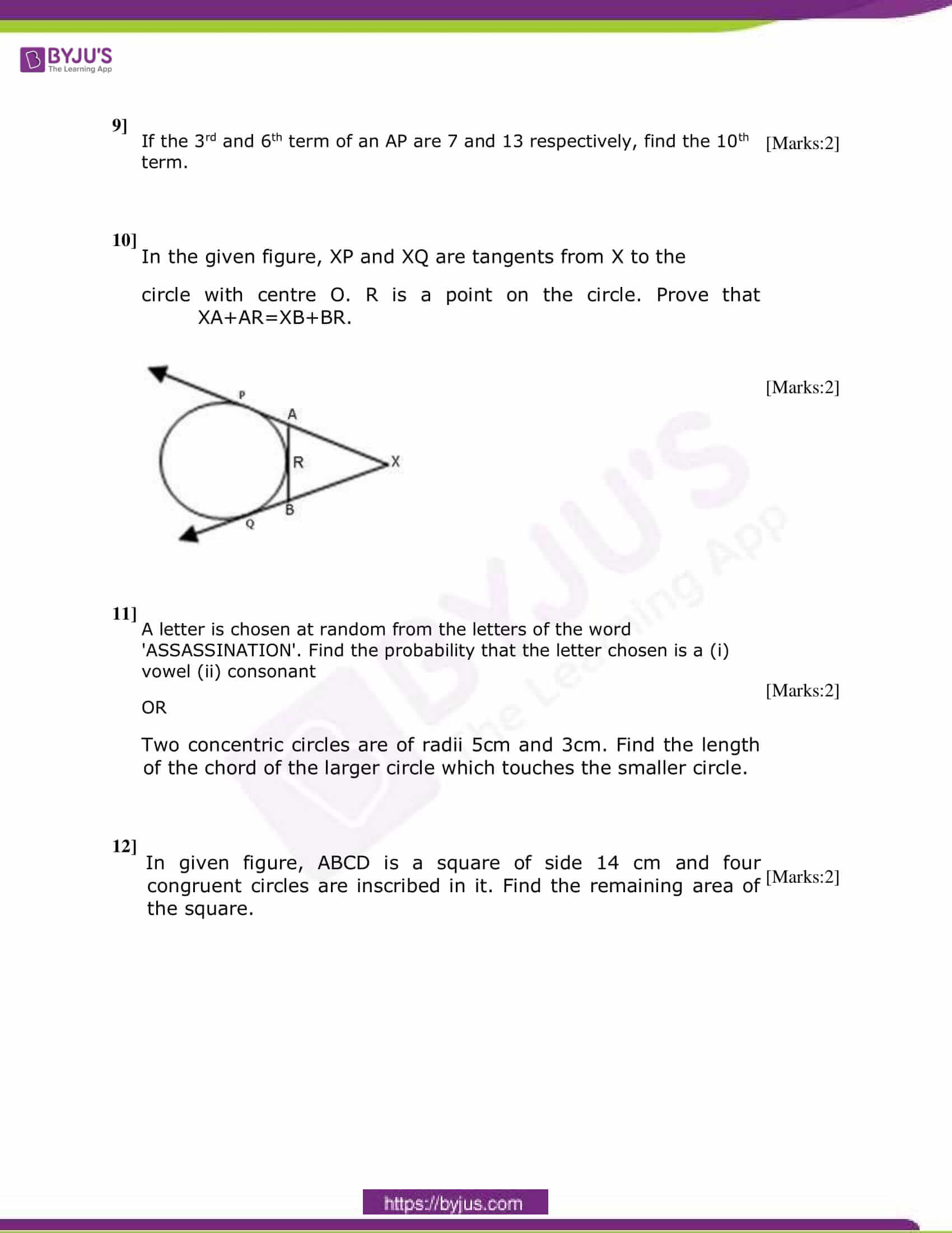 CBSE Class 10 Maths Sample Paper Set 4-4