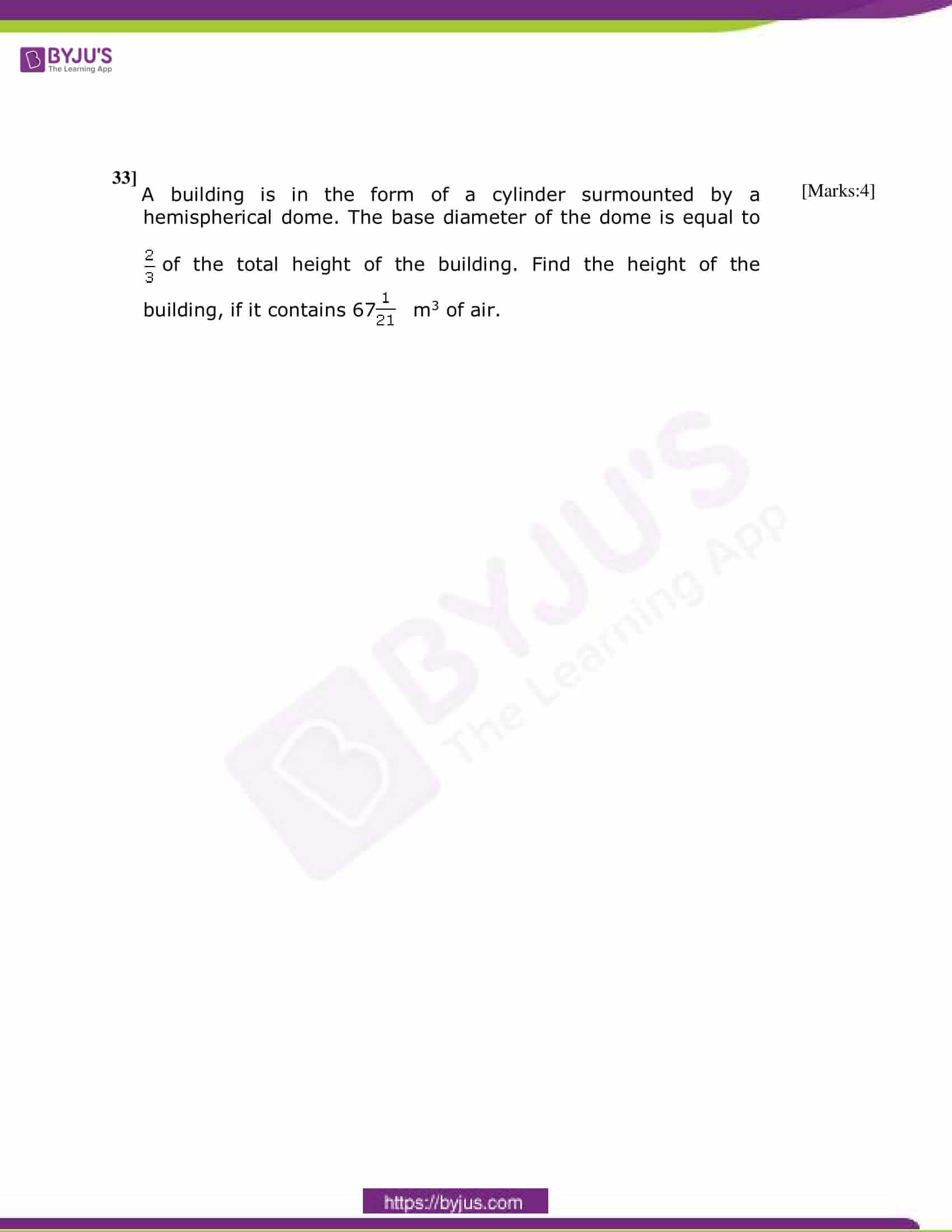 CBSE Class 10 Maths Sample Paper Set 4-9