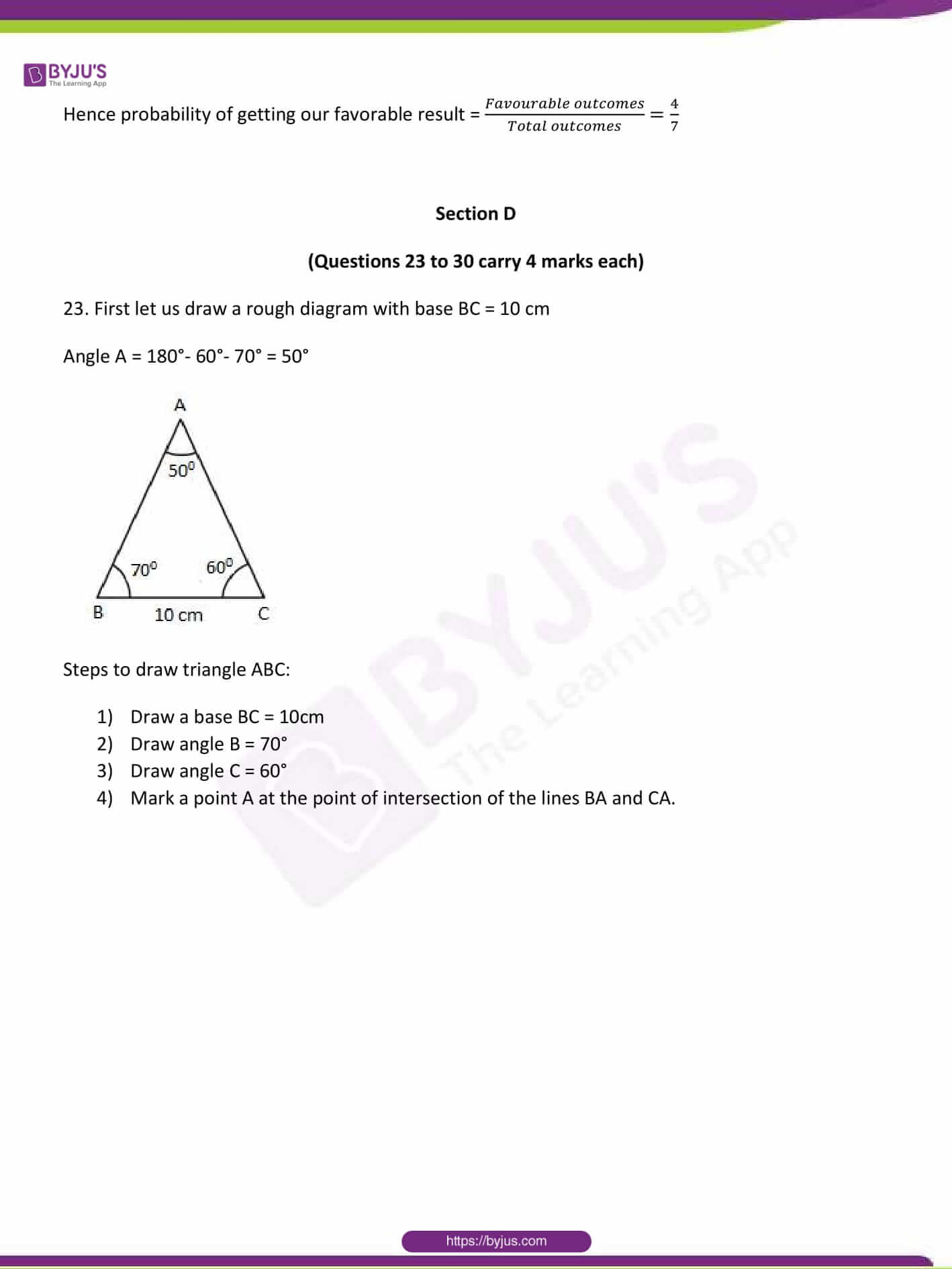 CBSE Class 10 Maths Sample Paper Solution Set 1-15