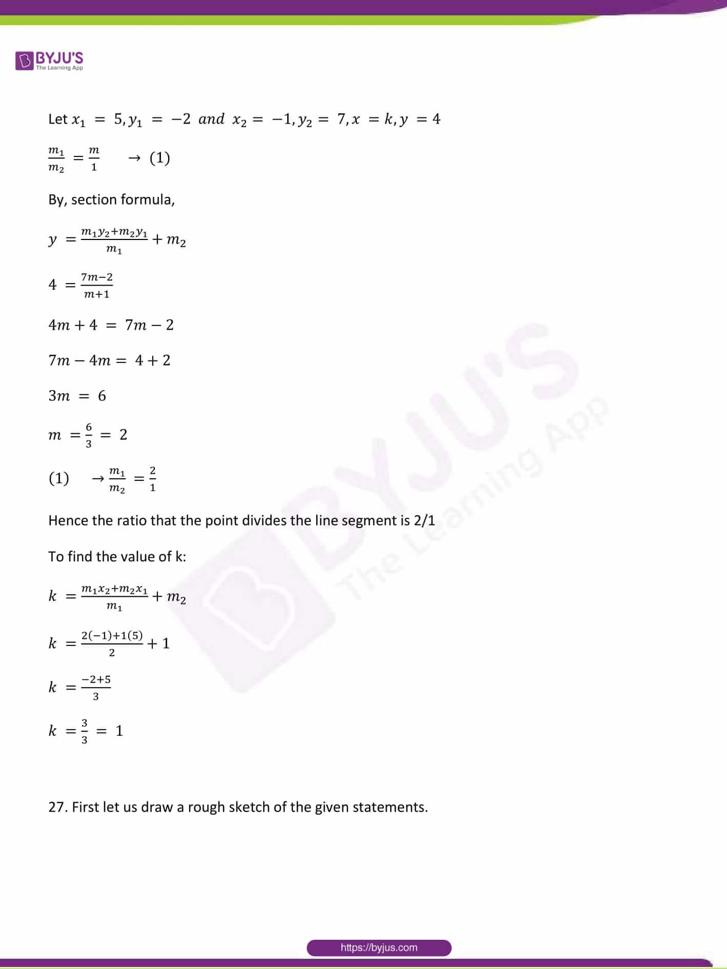 CBSE Class 10 Maths Sample Paper Solution Set 1-23