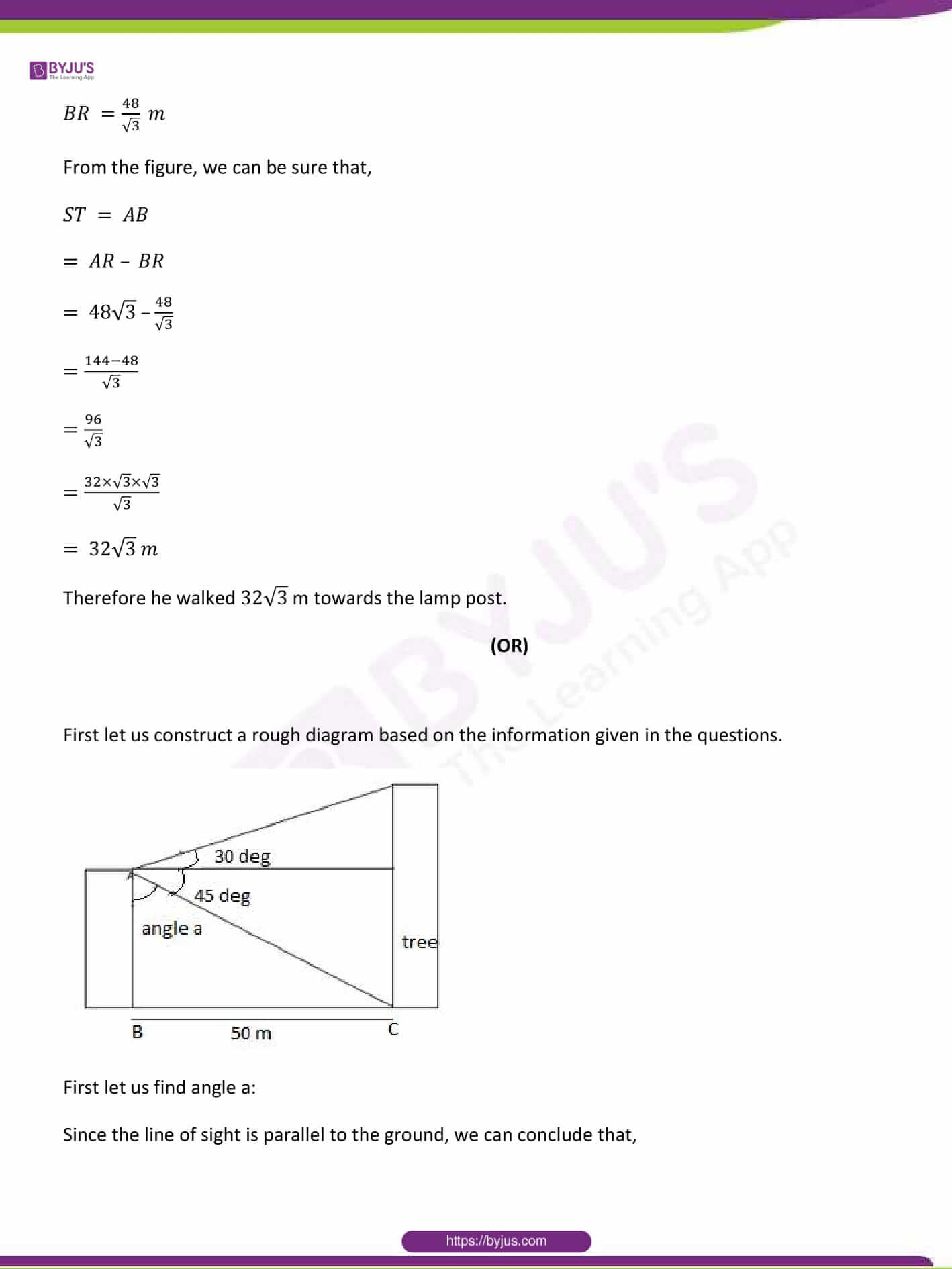 CBSE Class 10 Maths Sample Paper Solution Set 1-25