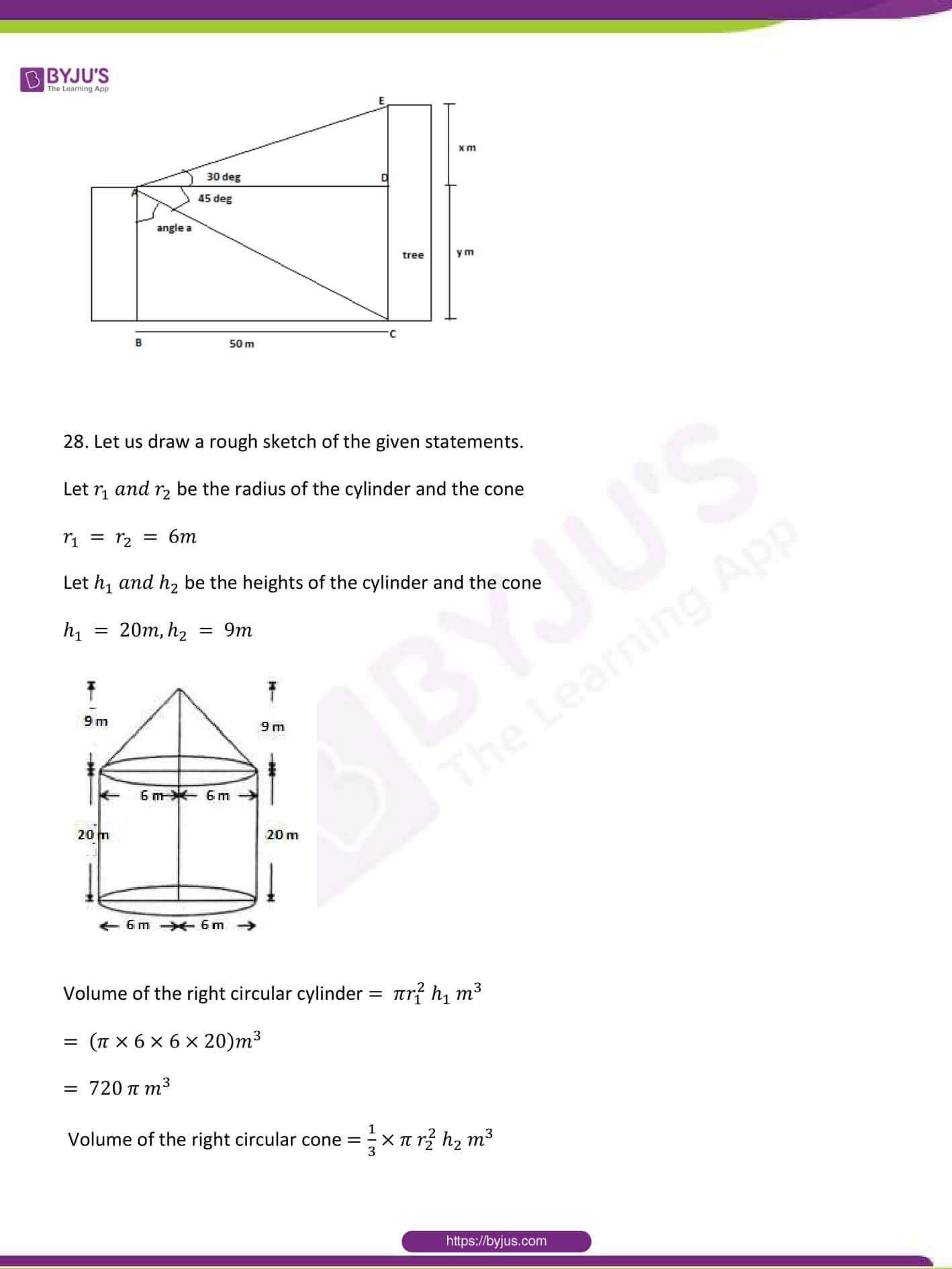 CBSE Class 10 Maths Sample Paper Solution Set 1-27