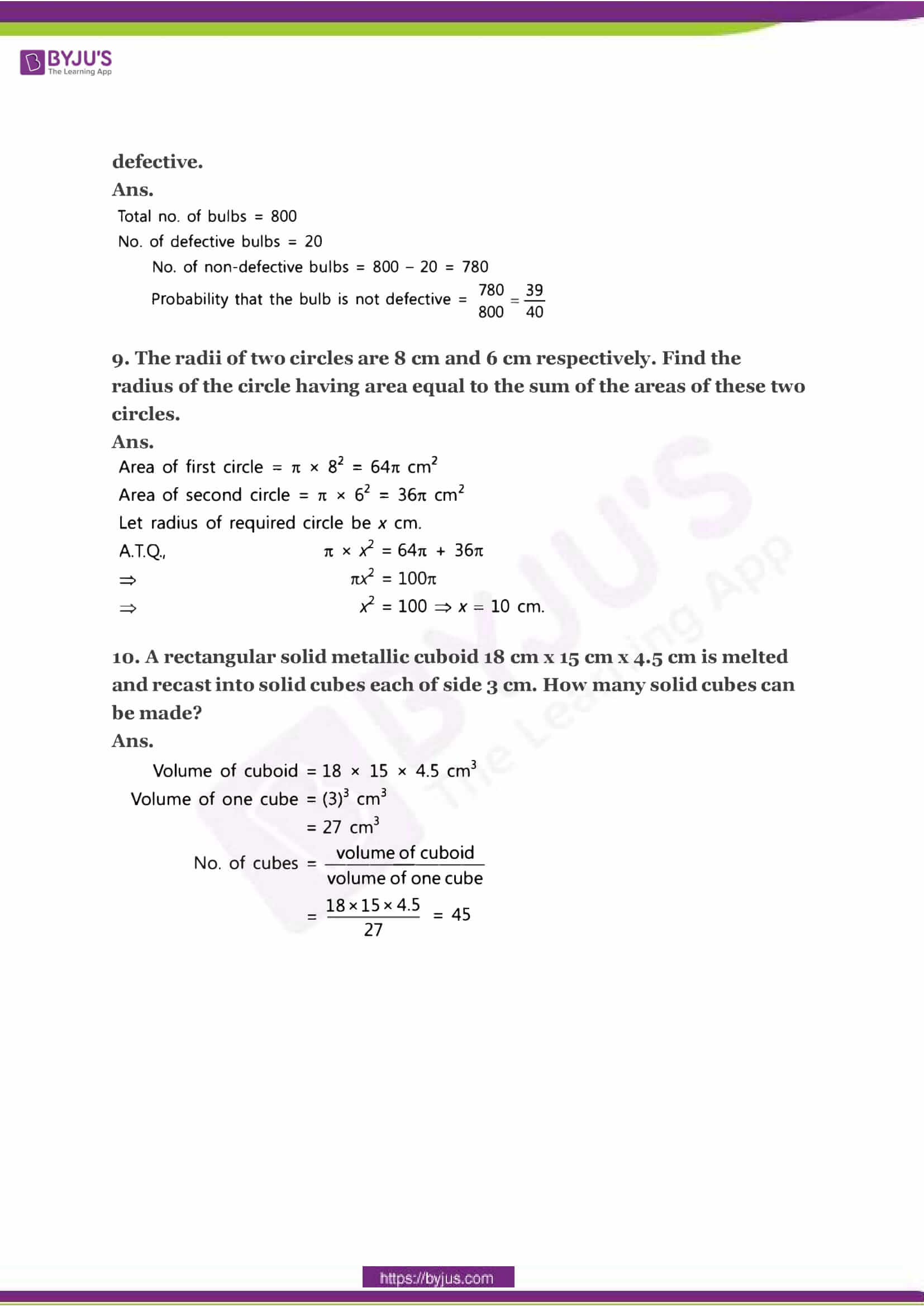 CBSE Class 10 Maths Sample Paper Solution Set 2-03