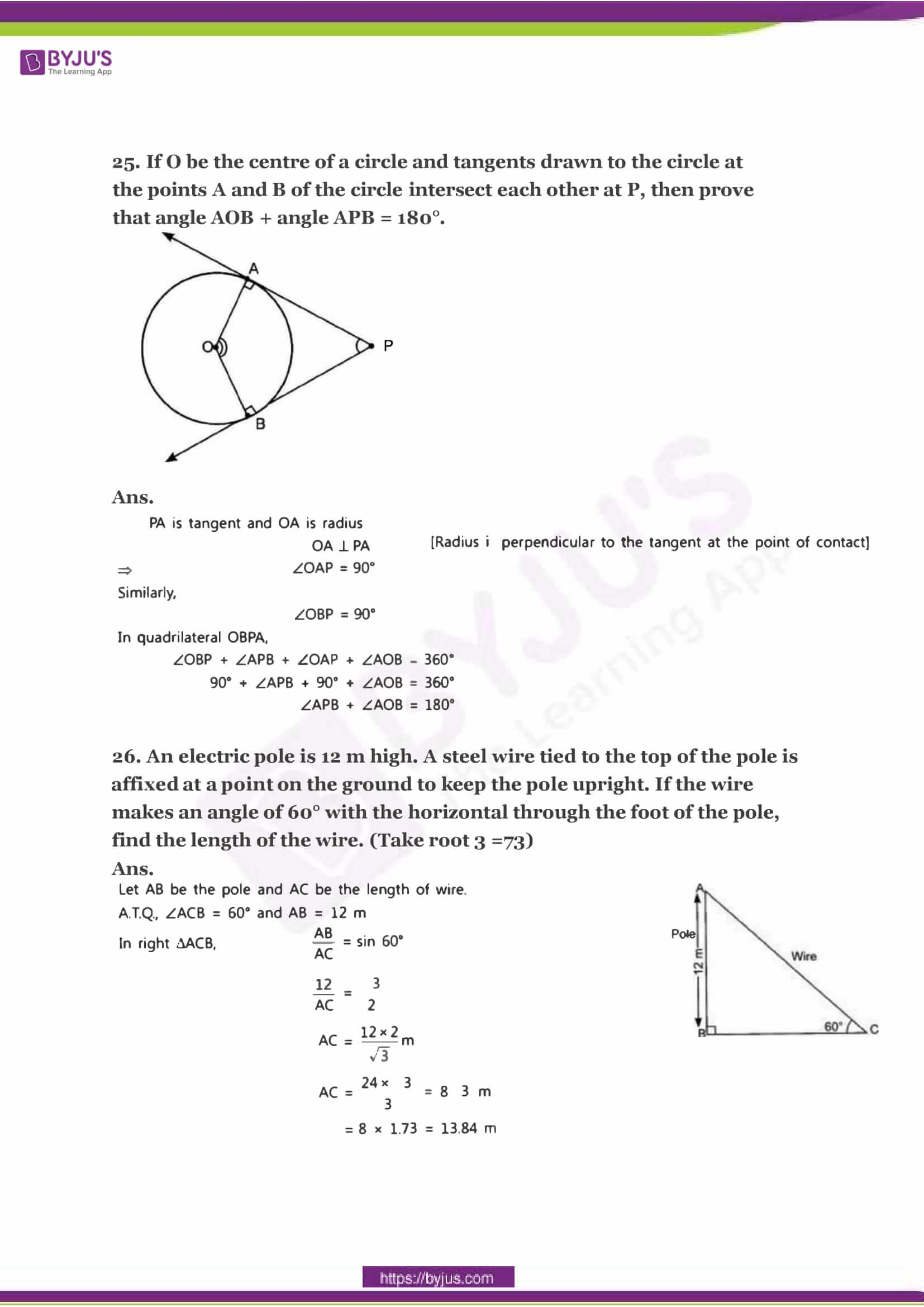 CBSE Class 10 Maths Sample Paper Solution Set 2-11
