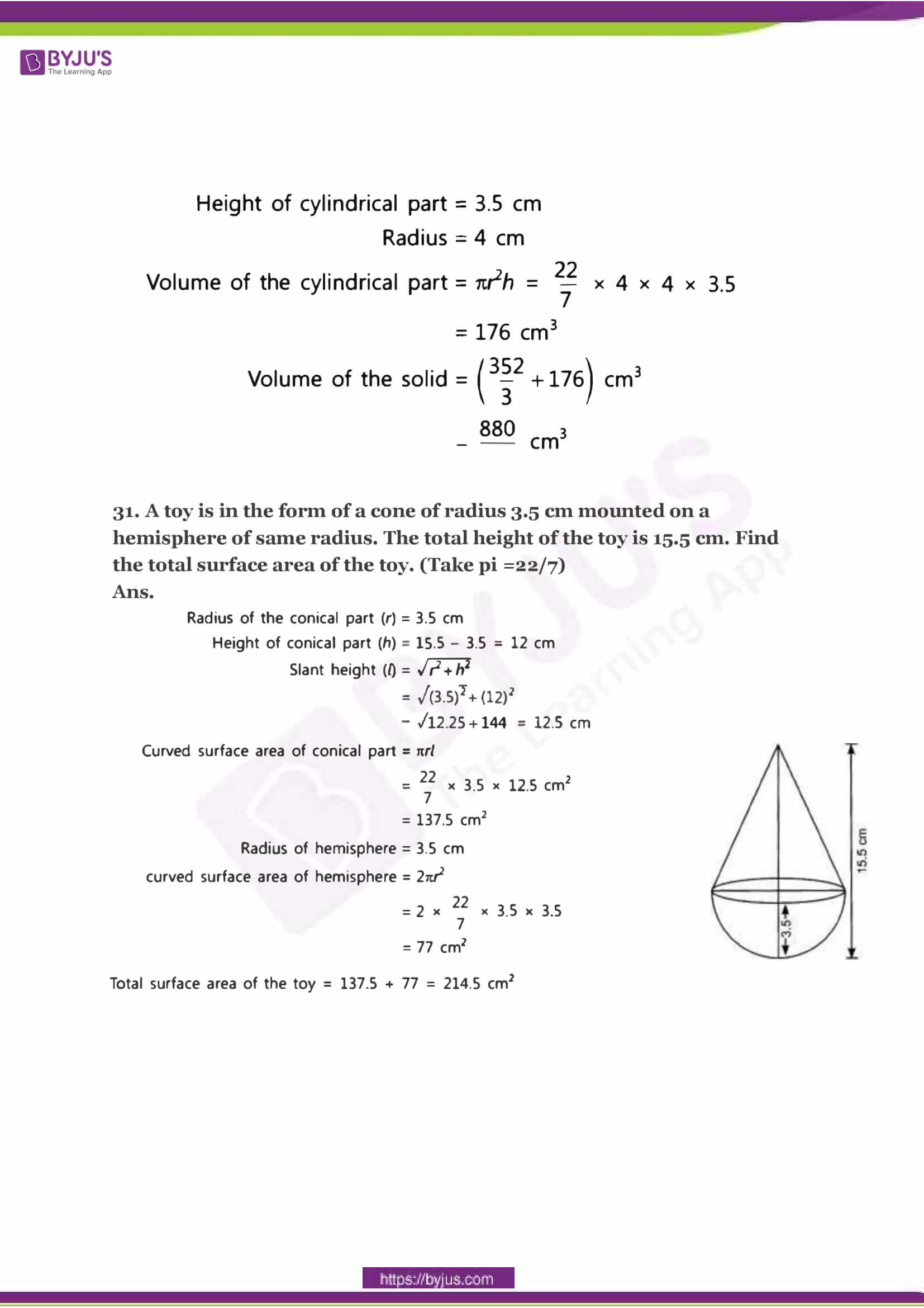 CBSE Class 10 Maths Sample Paper Solution Set 2-15