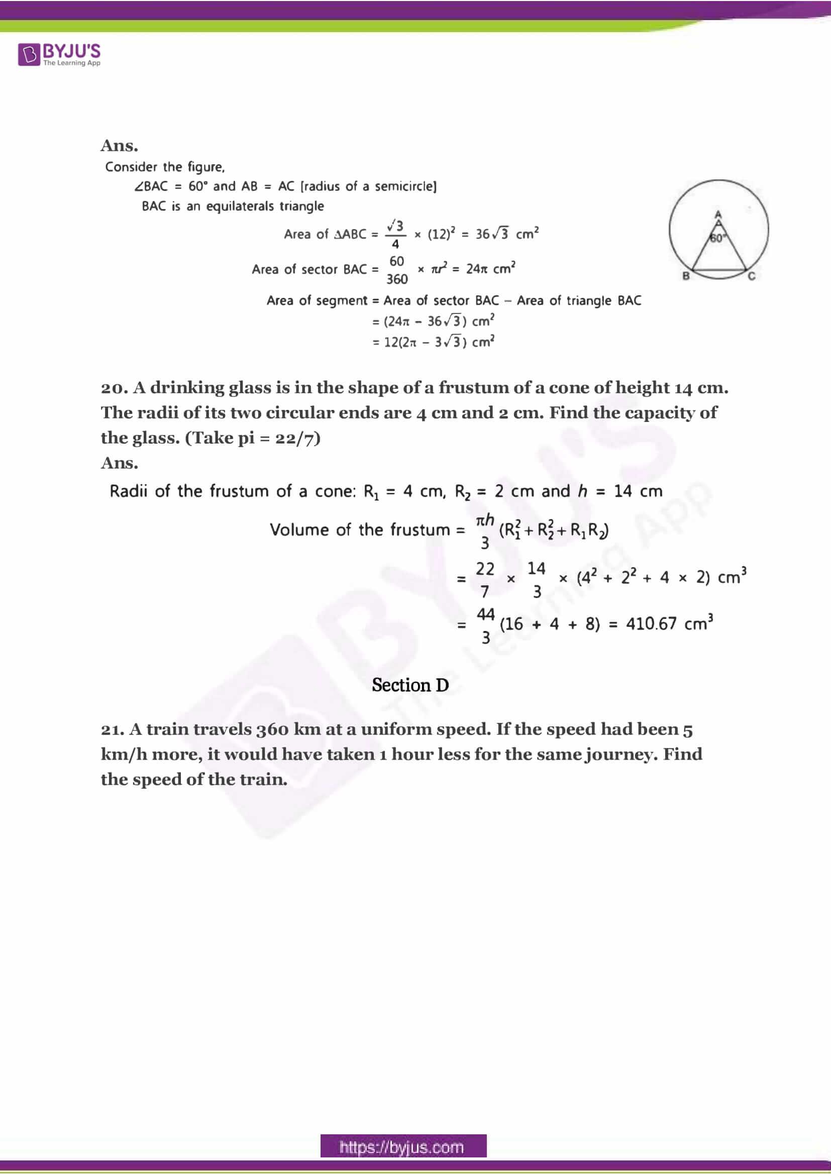 CBSE Class 10 Maths Sample Paper Solution Set 3-09