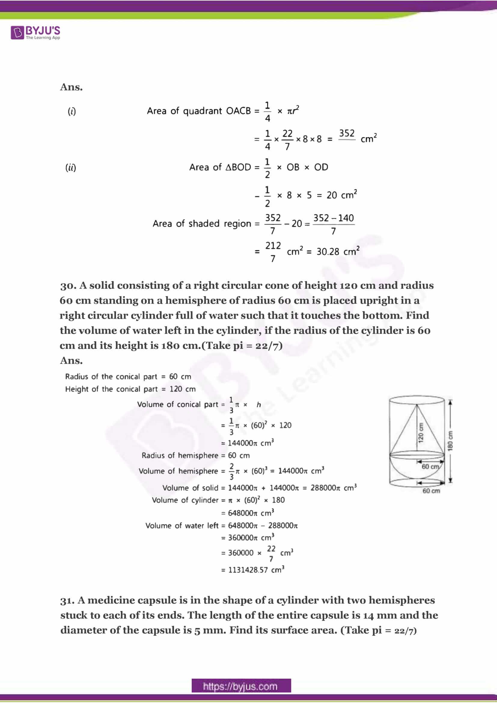 CBSE Class 10 Maths Sample Paper Solution Set 3-15