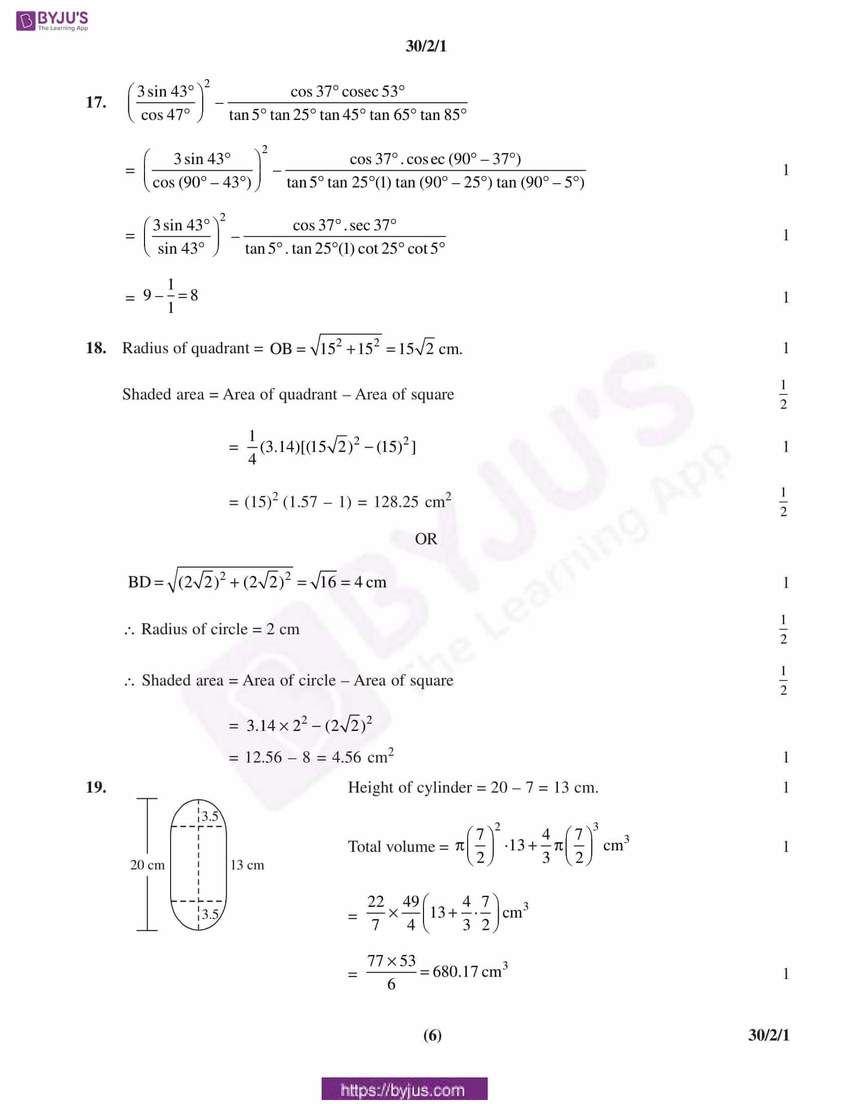 CBSE Class 10 Maths Solution PDF 2019 Set 2 06