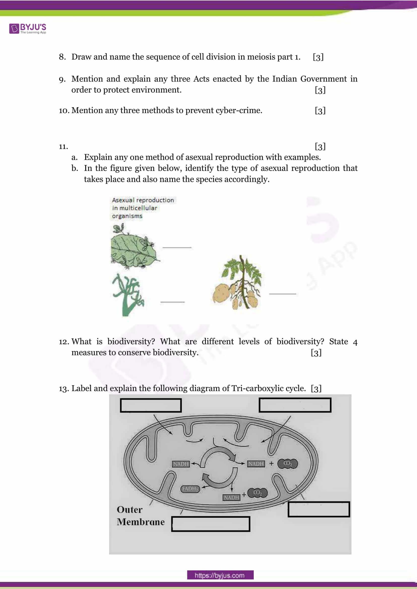 CBSE Class 10 Science Sample Paper Set 1-3